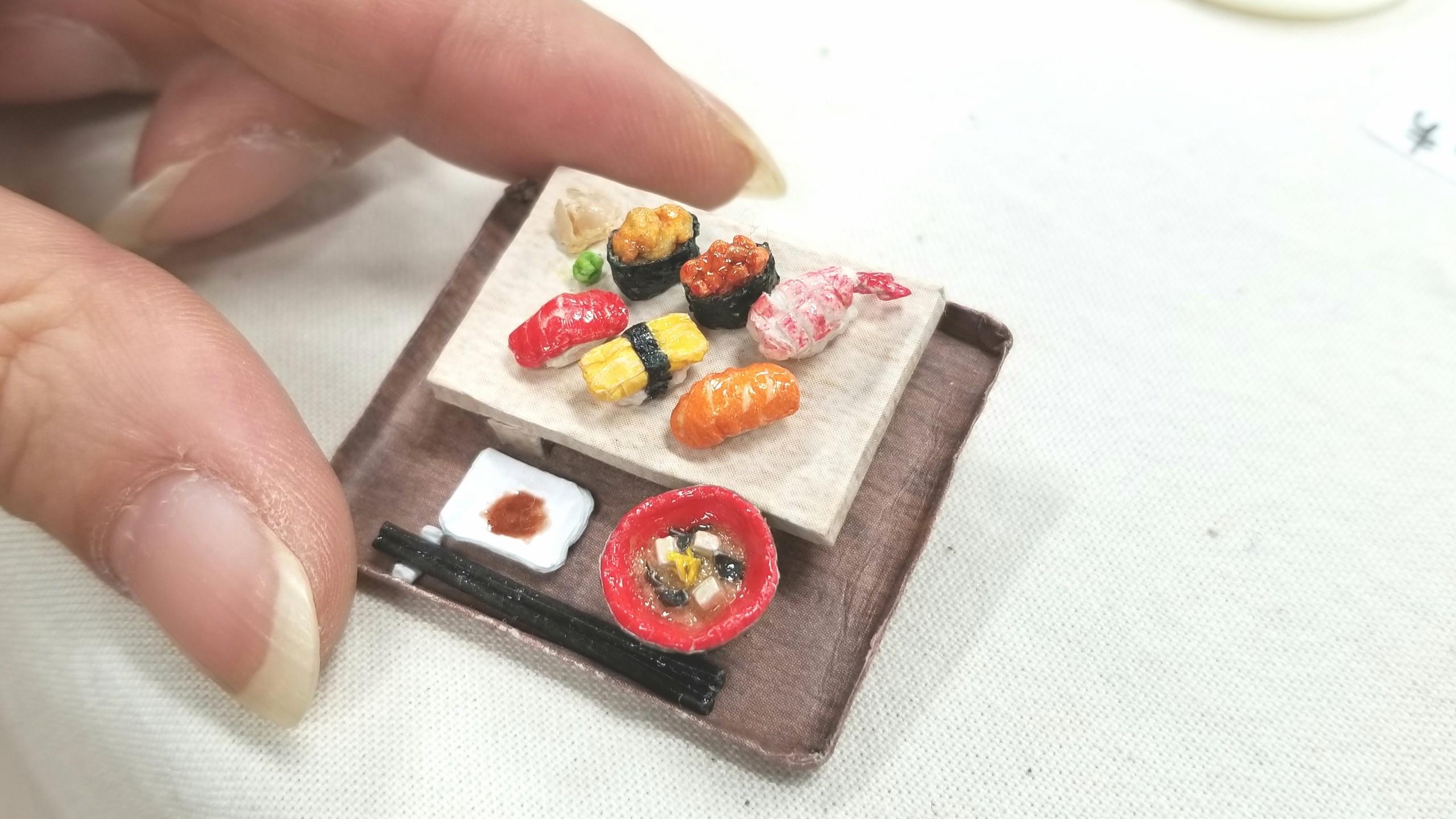 ペーパークラフト,折り紙,ミニチュアフード,握りお寿司,ハンドメイド