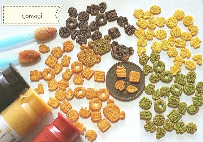 ミニチュアフード,かわいいクッキーお菓子,樹脂粘土,製作過程,工程