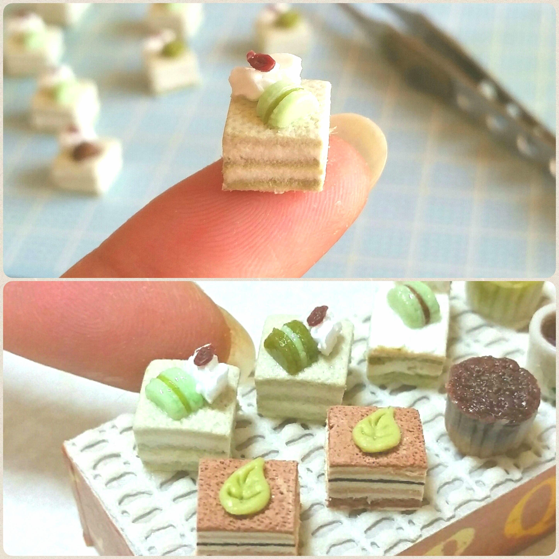 ショートケーキ,ミニチュアフード,樹脂粘土,美味しい,人気のブログ
