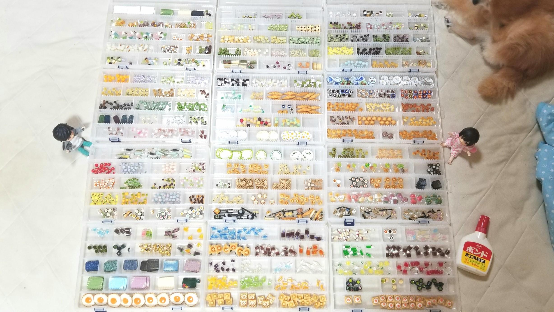 ミニチュアフード,1万点のパーツ作品,イベント,樹脂粘土,量産,大量