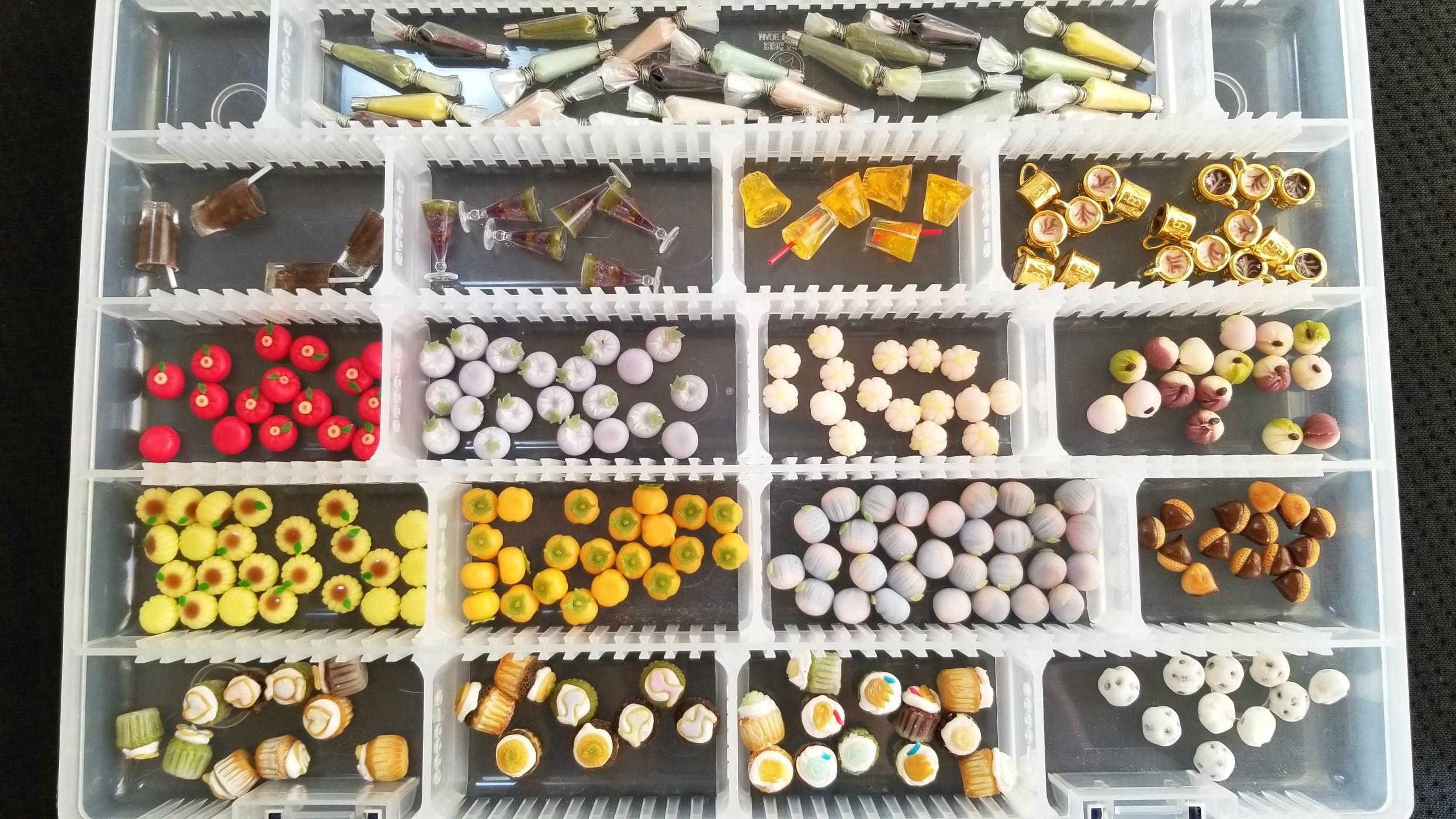 アート,量産,感動,ミニチュアフード,樹脂粘土,和菓子,絞り袋,ドール