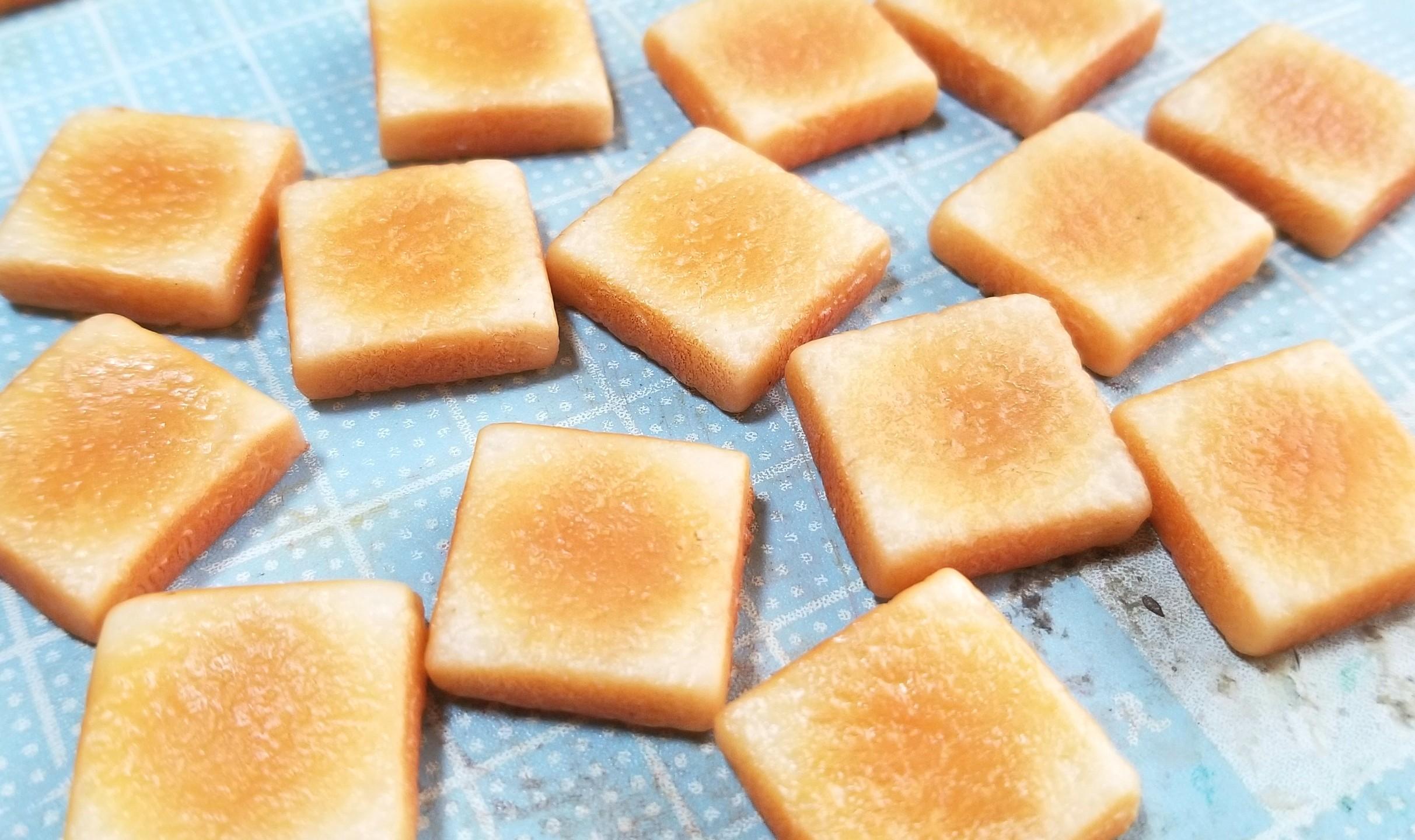 ラピュタトースト,作り方,樹脂粘土,食パン,食品サンプル,シルバニア