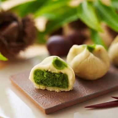 和菓子,お抹茶の栗まんじゅう,美味しい饅頭,上品な,品のある,贈答品