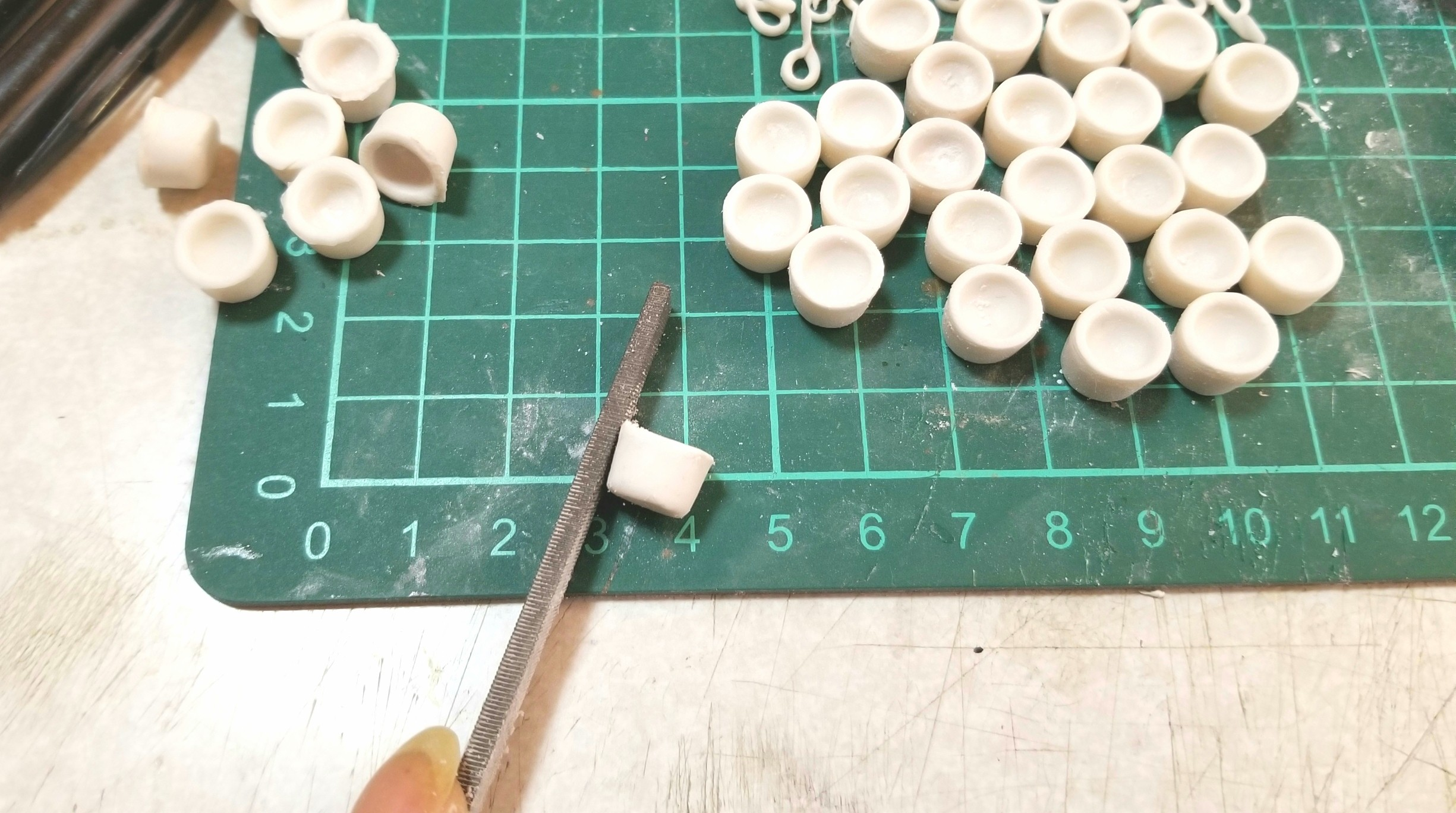 ラブティーカップ,作り方,ミニチュアフード,樹脂粘土,ドールハウス