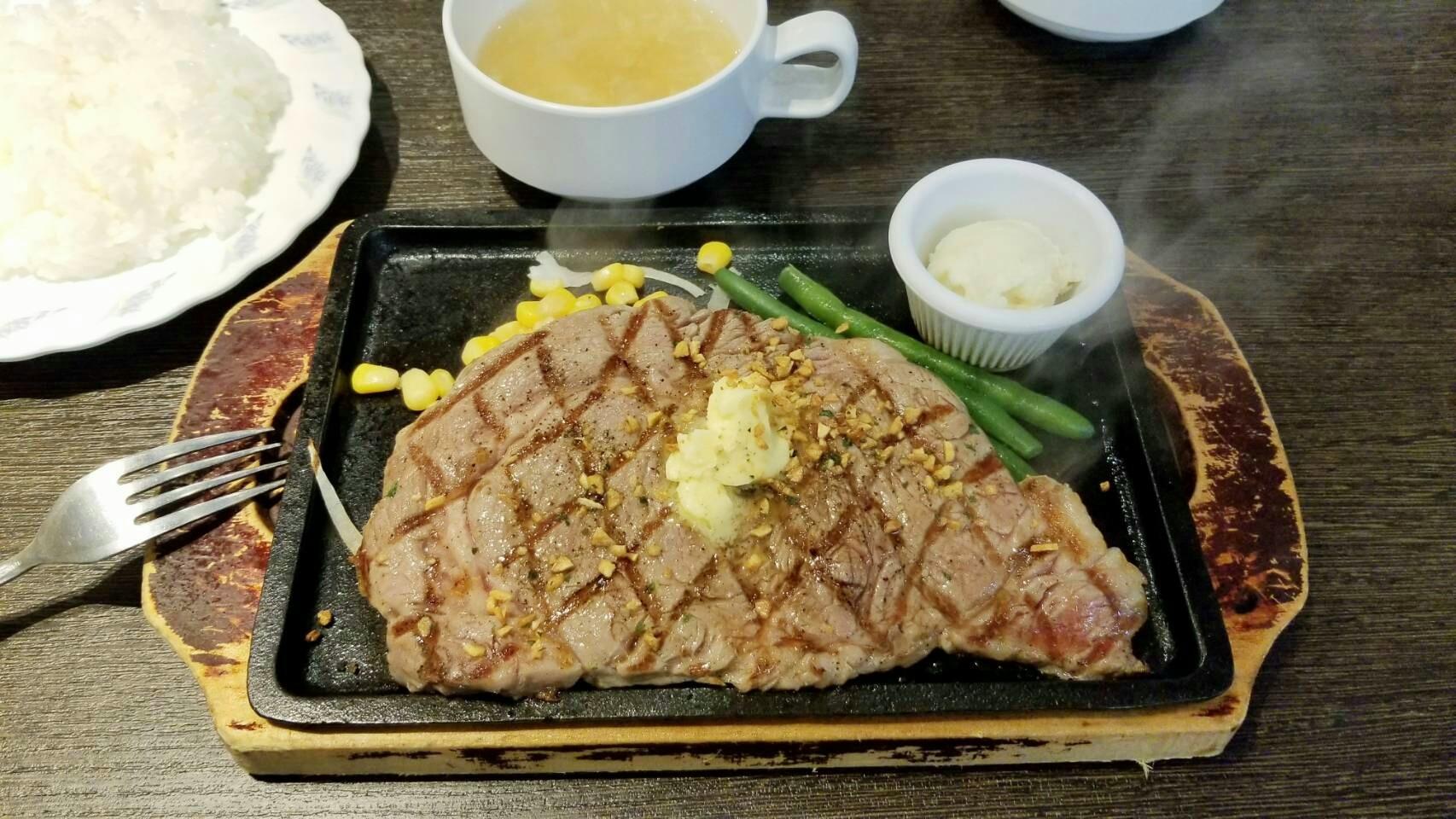 愛媛県松山市ステーキ食堂おいしい安いコスパ良い最高大好きグルメ