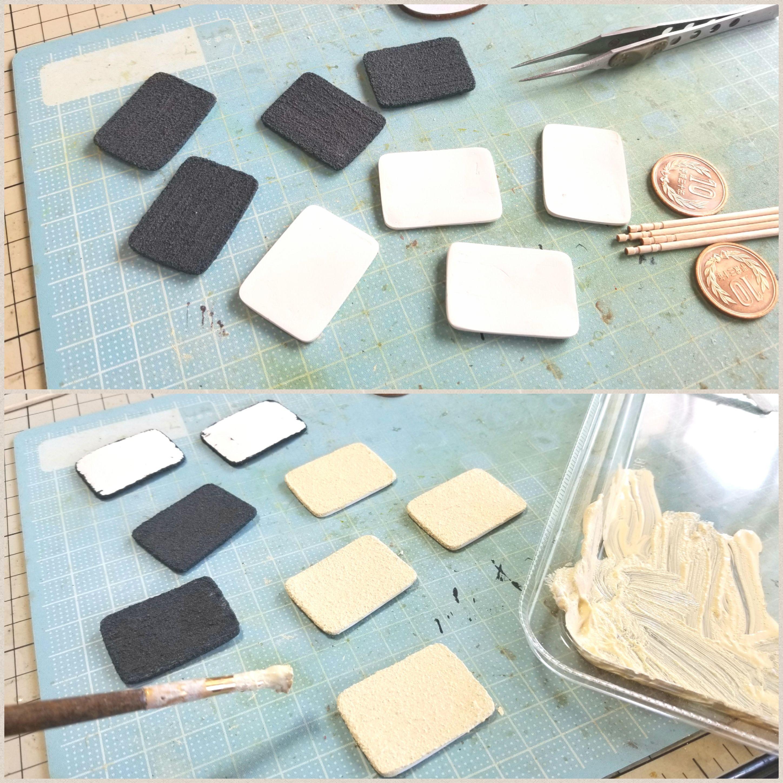 ミニチュアフード陶器風和食器,かわいいお皿の作り方,シンプルお洒落