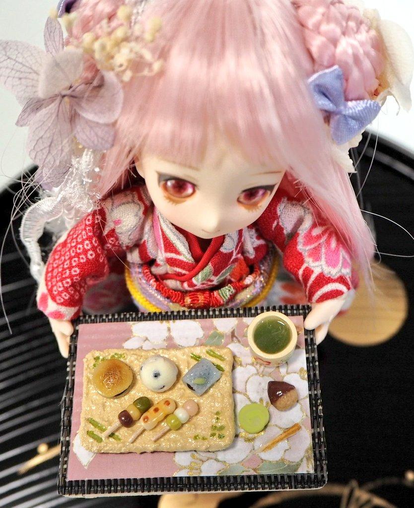 ミニスウィーツドール,あまむす,ミニチュアフード,和菓子,人形