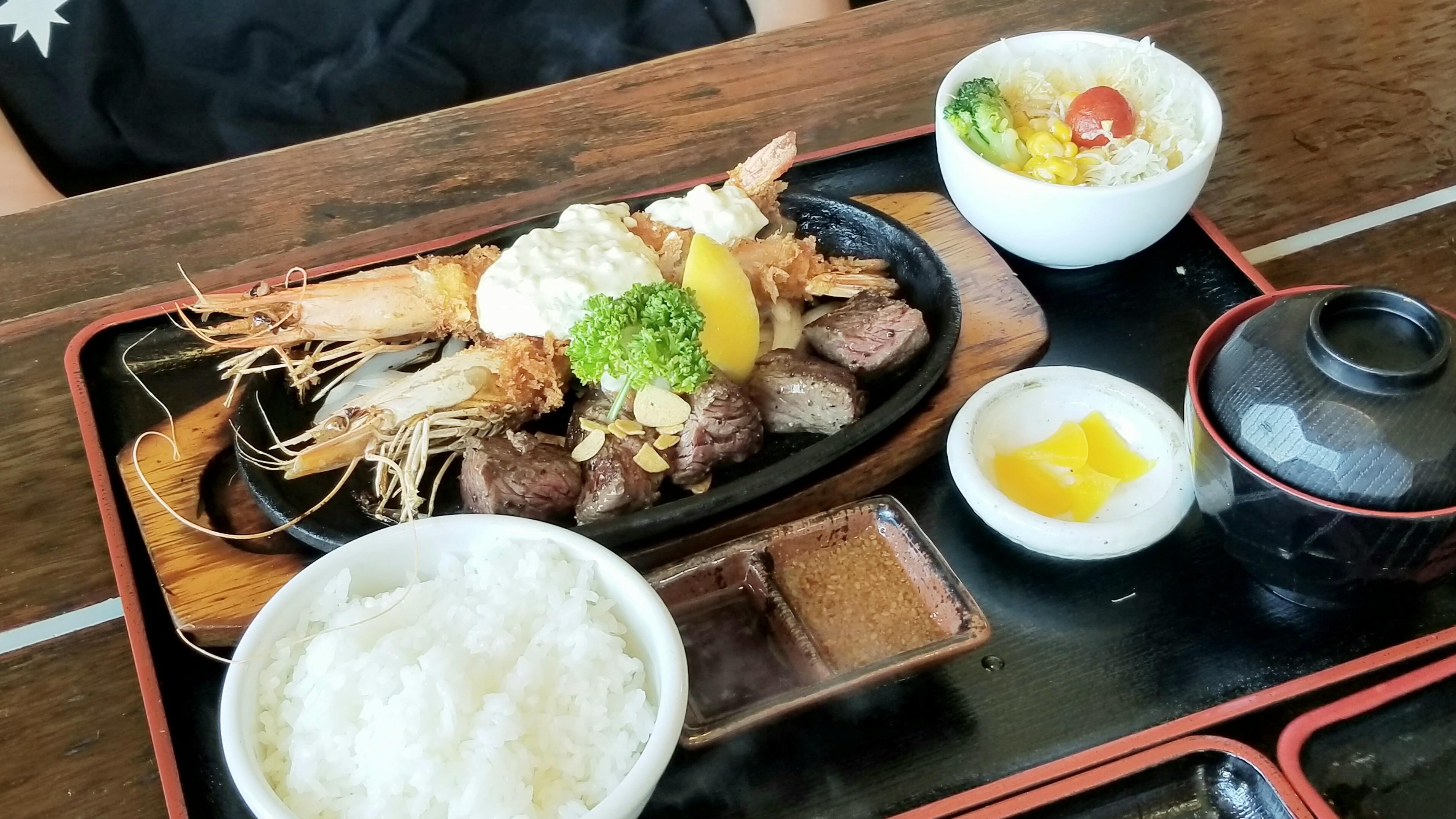 松山市駅前Jふらんくジャンボエビフライステーキおいしいおすすめ