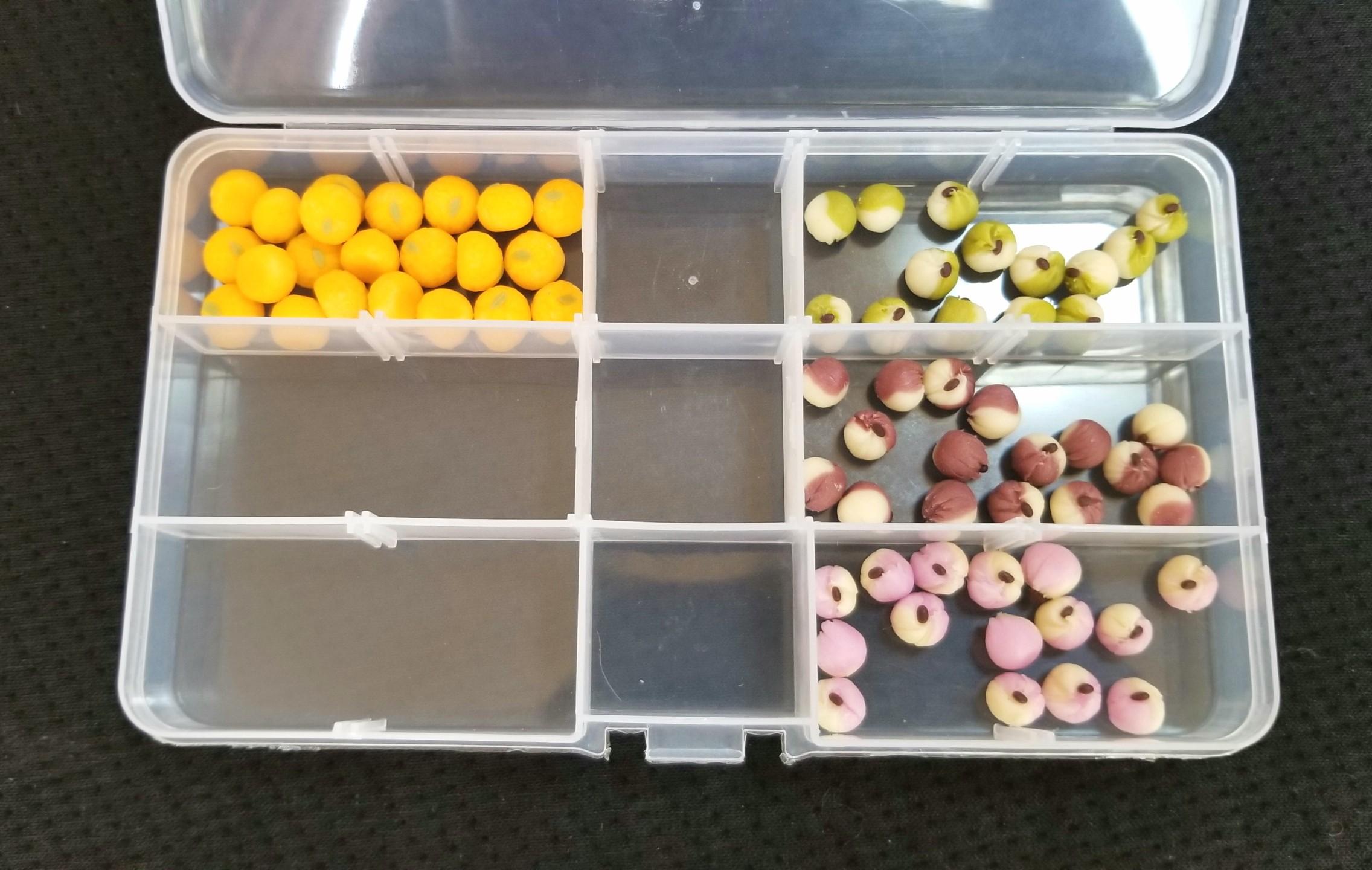 ミニチュア,樹脂粘土,和菓子,みかん大福,茶巾絞り,オビツ,シルバニア