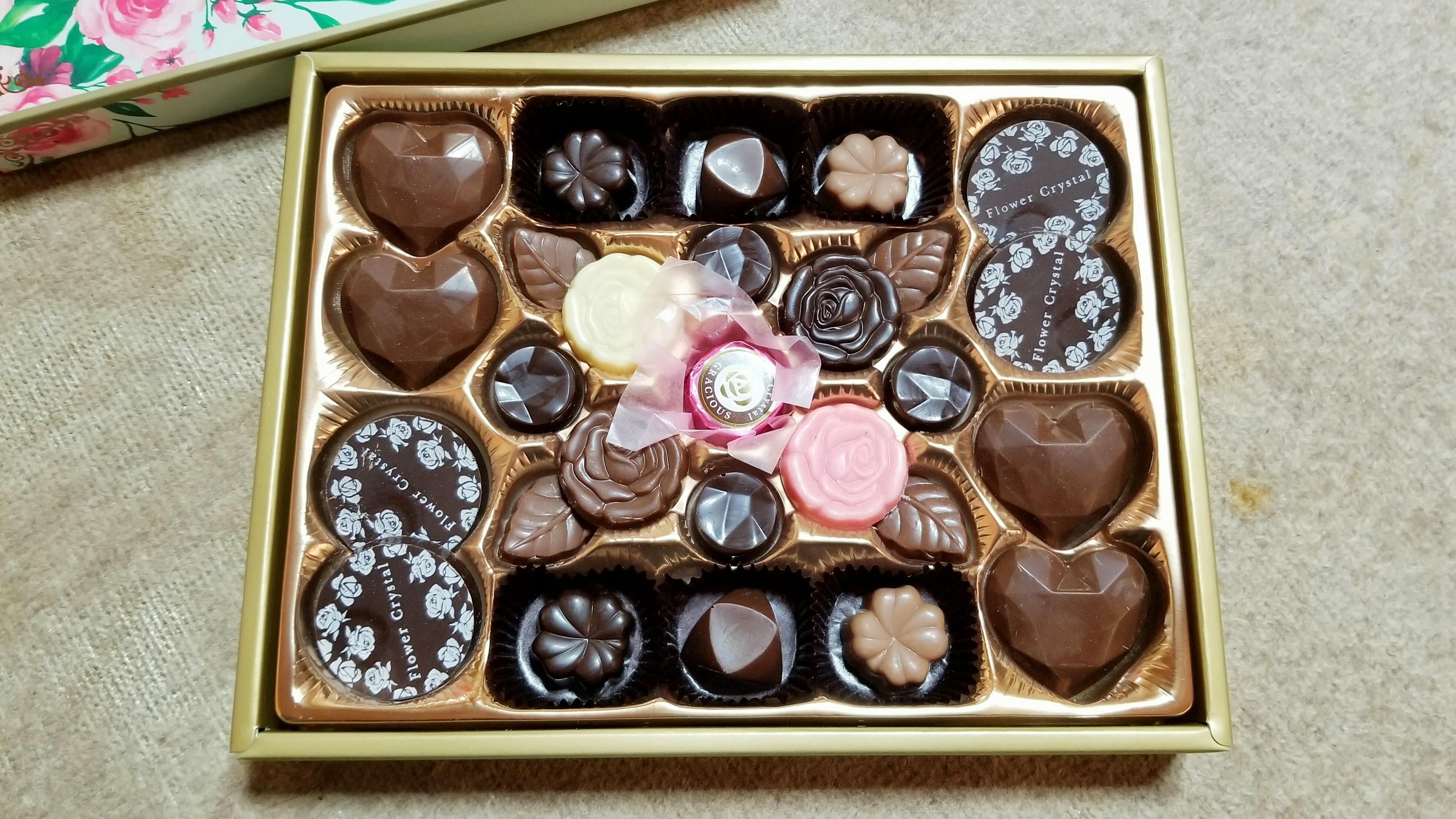バレンタインデーチョコレート可愛いおしゃれなスーパーの甘い