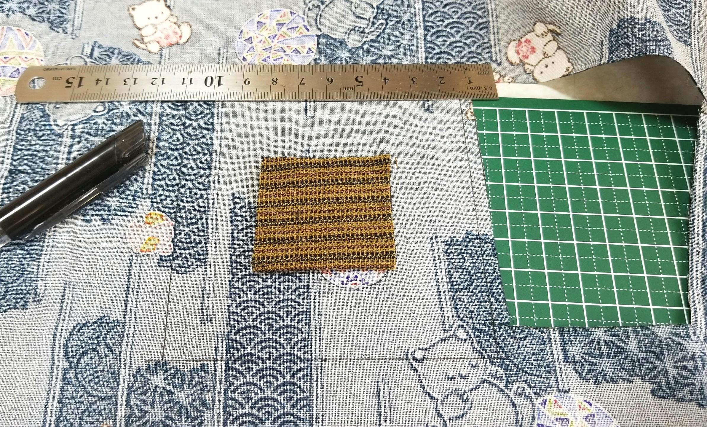 ミニチュアフード,座布団,作り方,縫い方,和菓子屋,布,ドールハウス