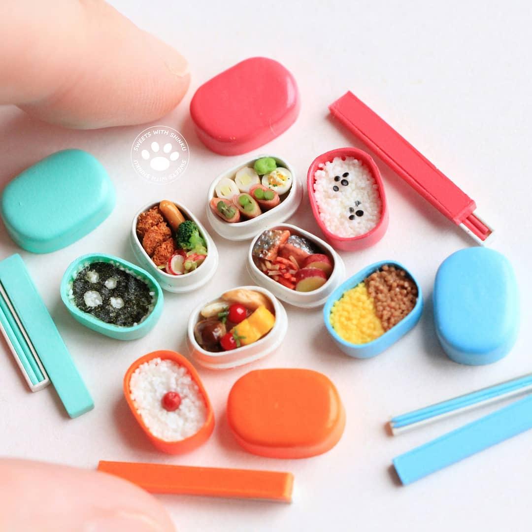 Shinku,ミニチュアフード作家,小さな小物,可愛いキッチン,お洒落