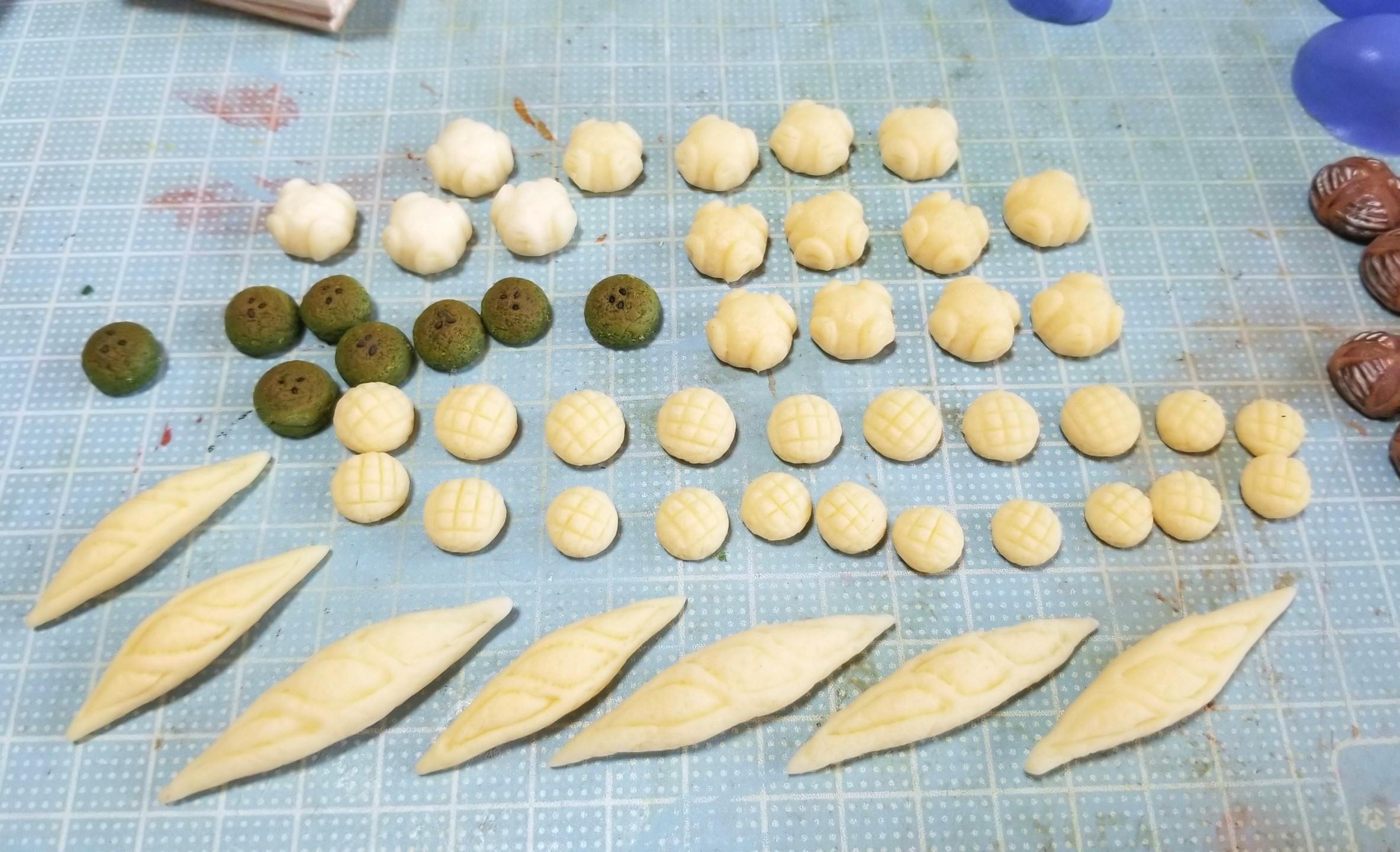 ミニチュア, パン作り, 樹脂粘土, 粘土, もっちりカンパーニュ