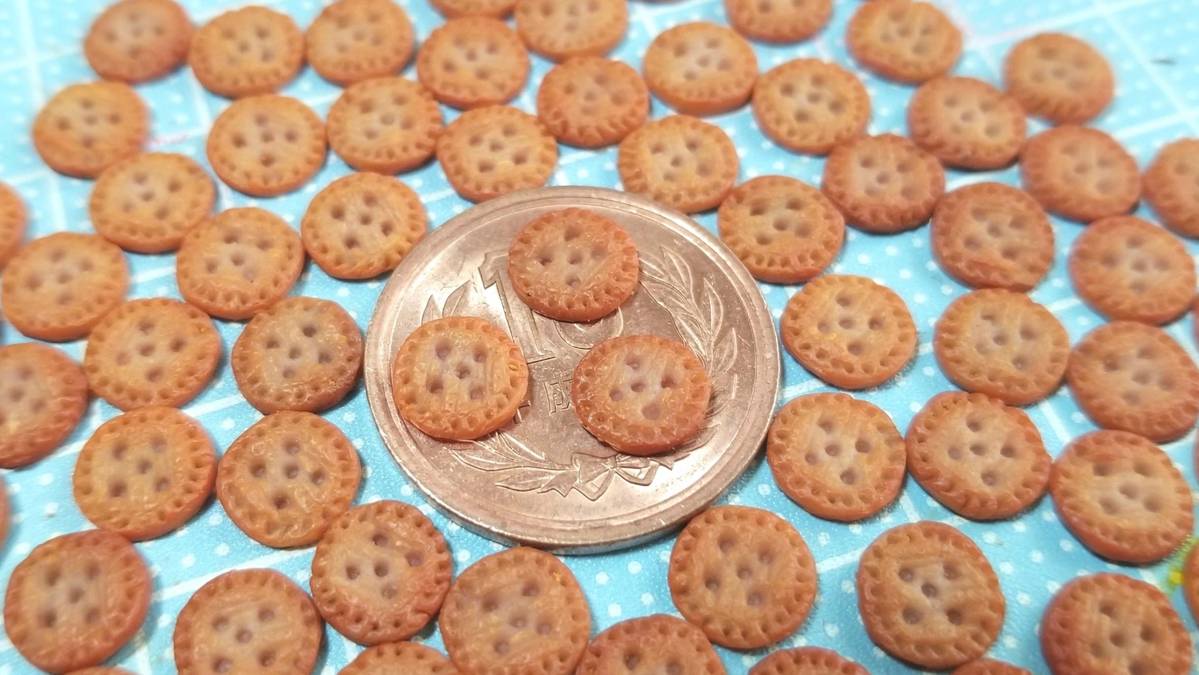 ミニチュアフード,クッキー,着色,作り方,樹脂粘土,食品サンプル,食玩