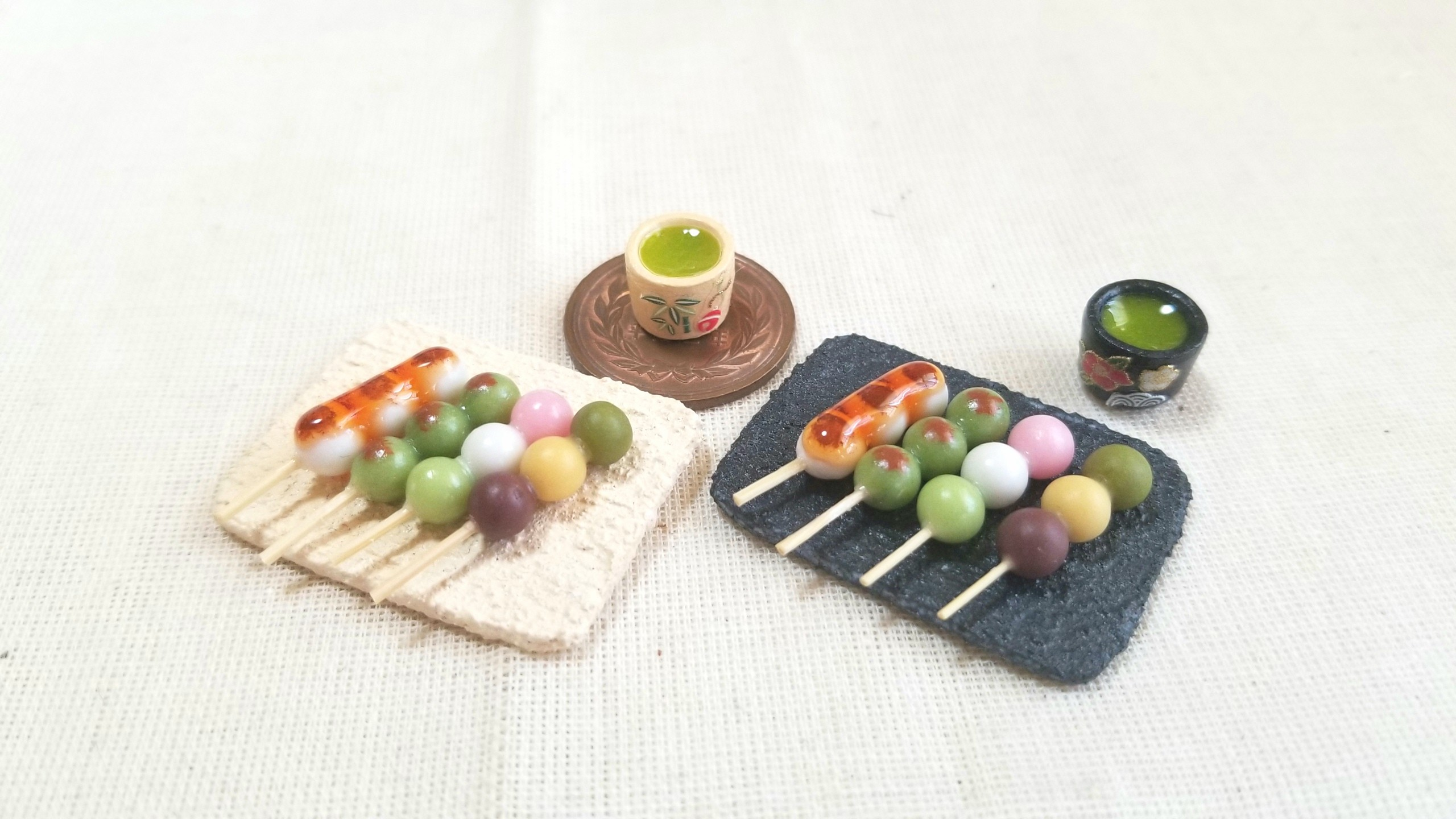 ミニチュアフード,お団子,和菓子,作り方,コツ,樹脂粘土,よもぎブログ