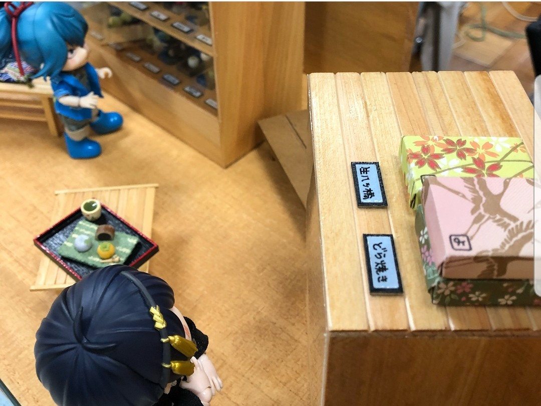 オビツろいど,和菓子屋,甘味処,東京ドールハウスミニチュアショウ