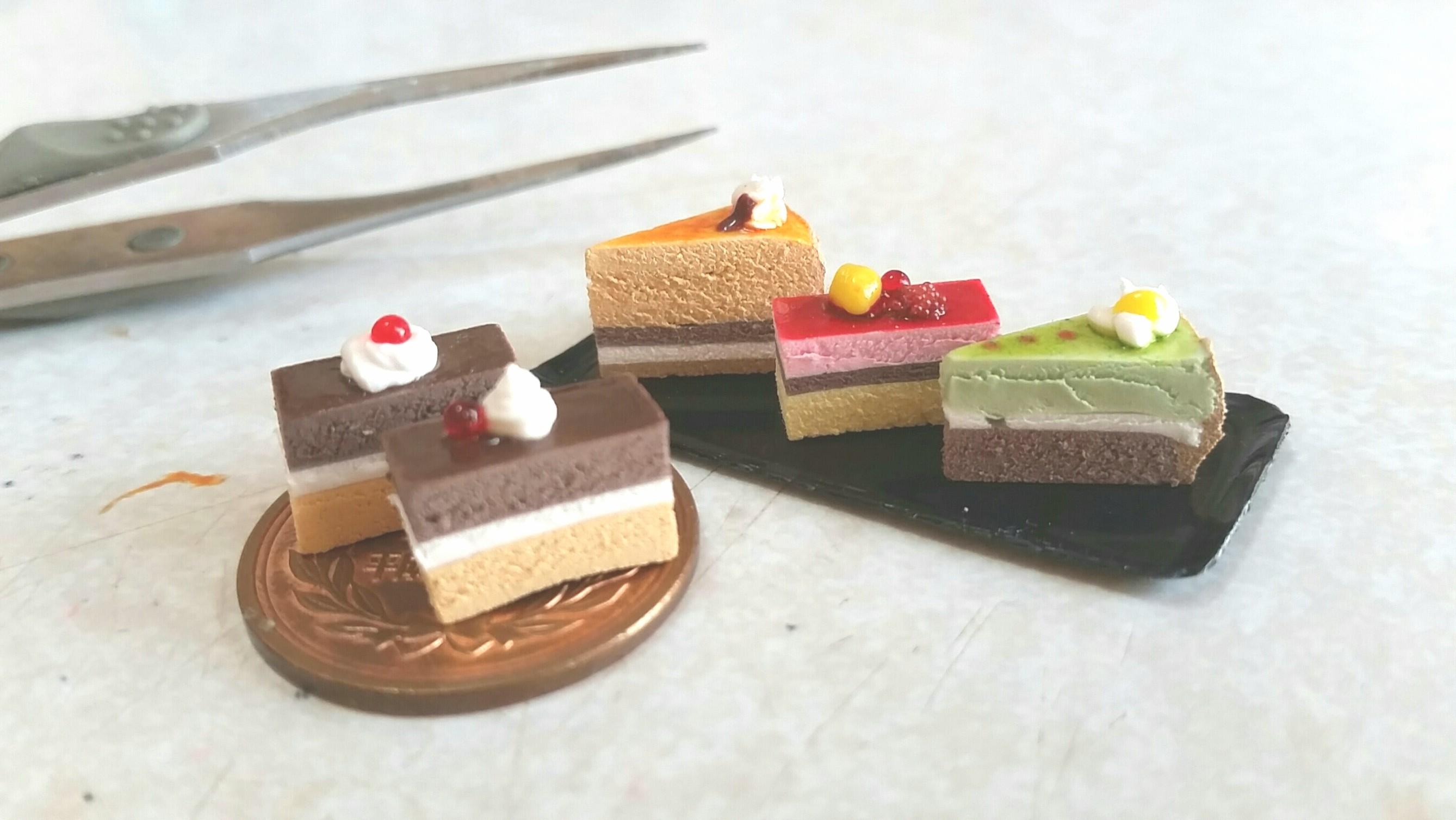 ショートケーキ,ミニチュアフード.樹脂粘土,美味しそう,フルーツ