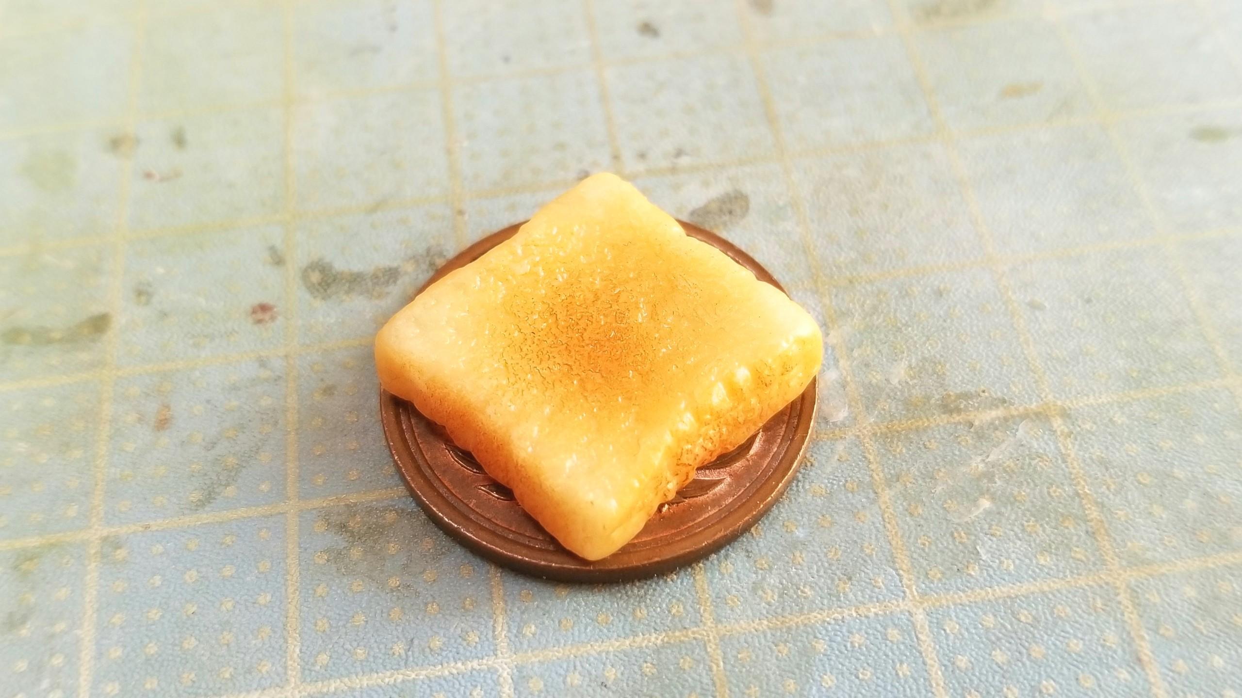 ラピュタ食パン,トースト,作り方,ミニチュアフード,樹脂粘土,ドール