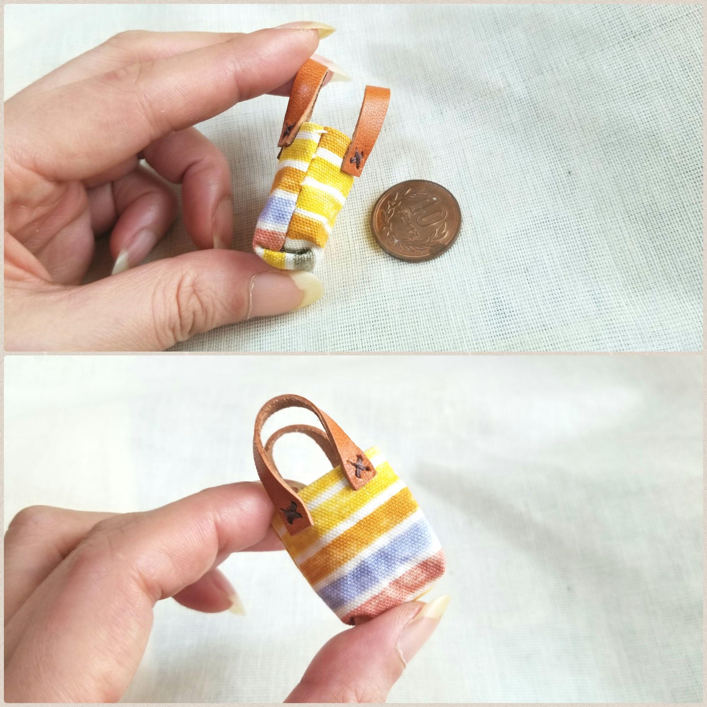 ドール小物,ミニチュアバッグ,布カバン,かわいい,可愛い,お洒落雑貨