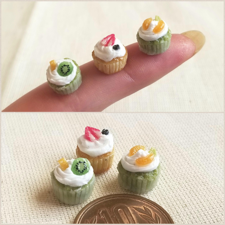 ミニチュアブログフルーツカップケーキ,ドール小物,おもちゃ,樹脂