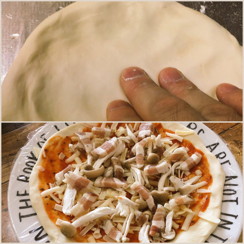 ご主人様の手作りピザ,パパの手料理,美味しいピザ,愛情たっぷり