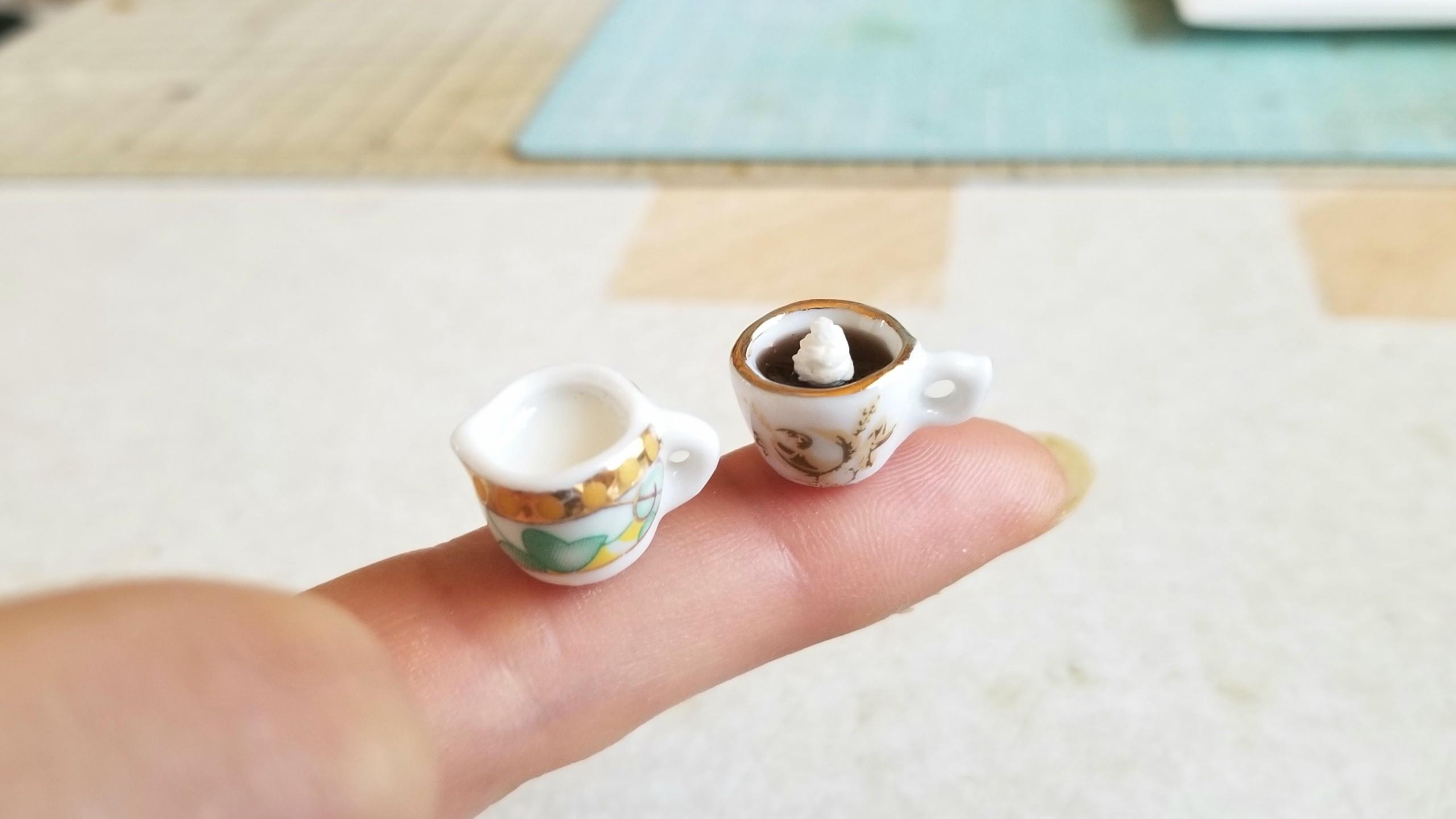 かわいい小さなドリンク飲み物,おすすめレジンアート,ドール用小物
