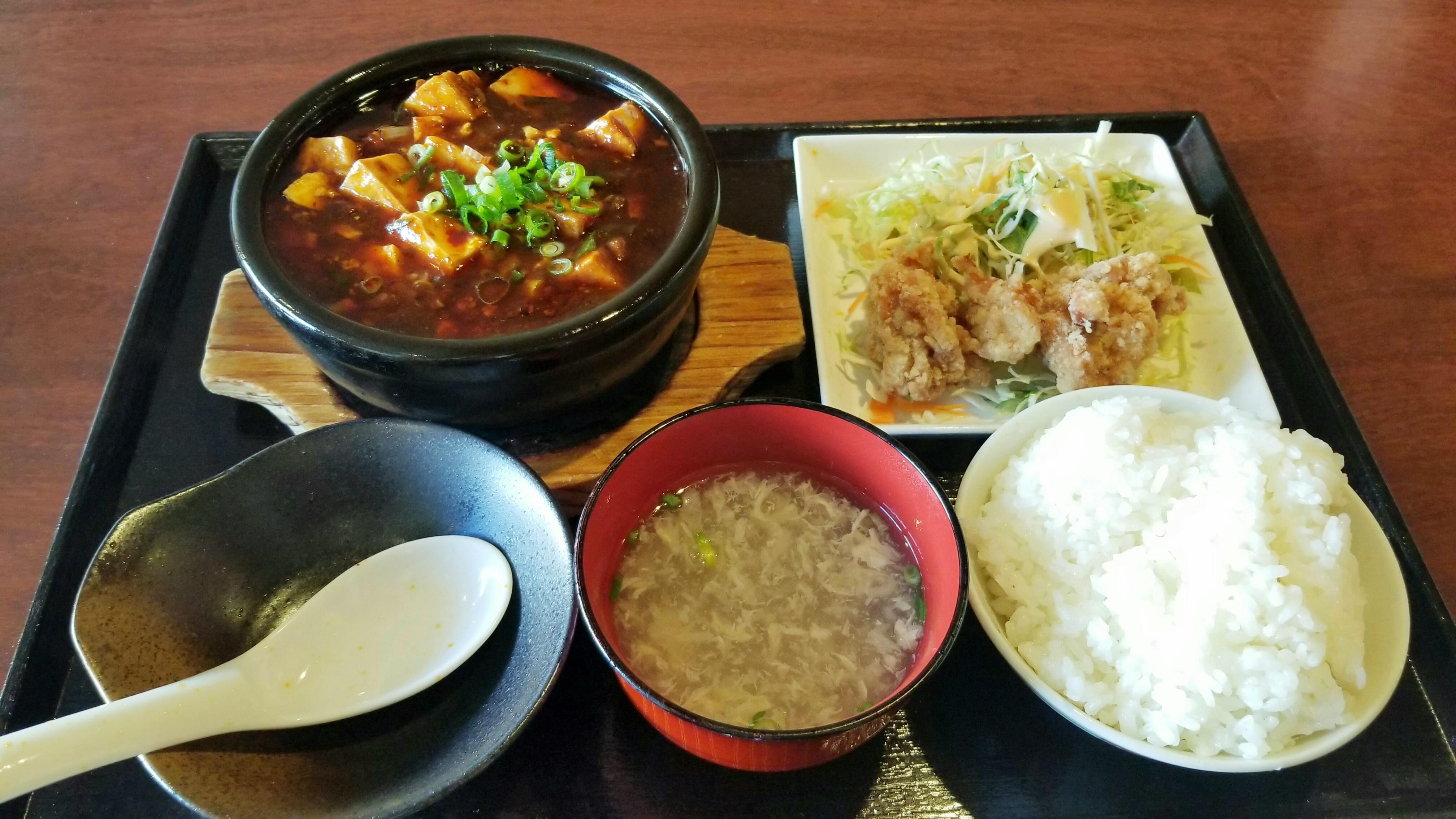 愛媛県松山市美味しい中華料理店屋真心シンシンおすすめ日替わり定食