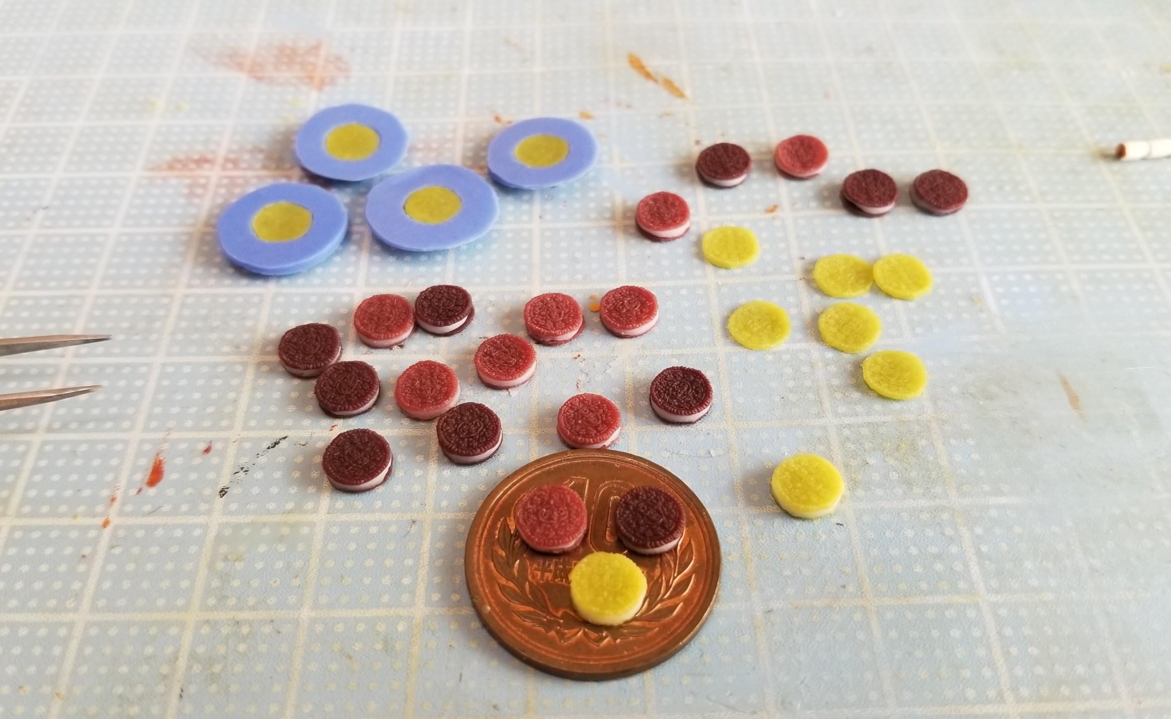 オレオ, ミニチュア, 樹脂粘土, ハンドメイド, 製作過程