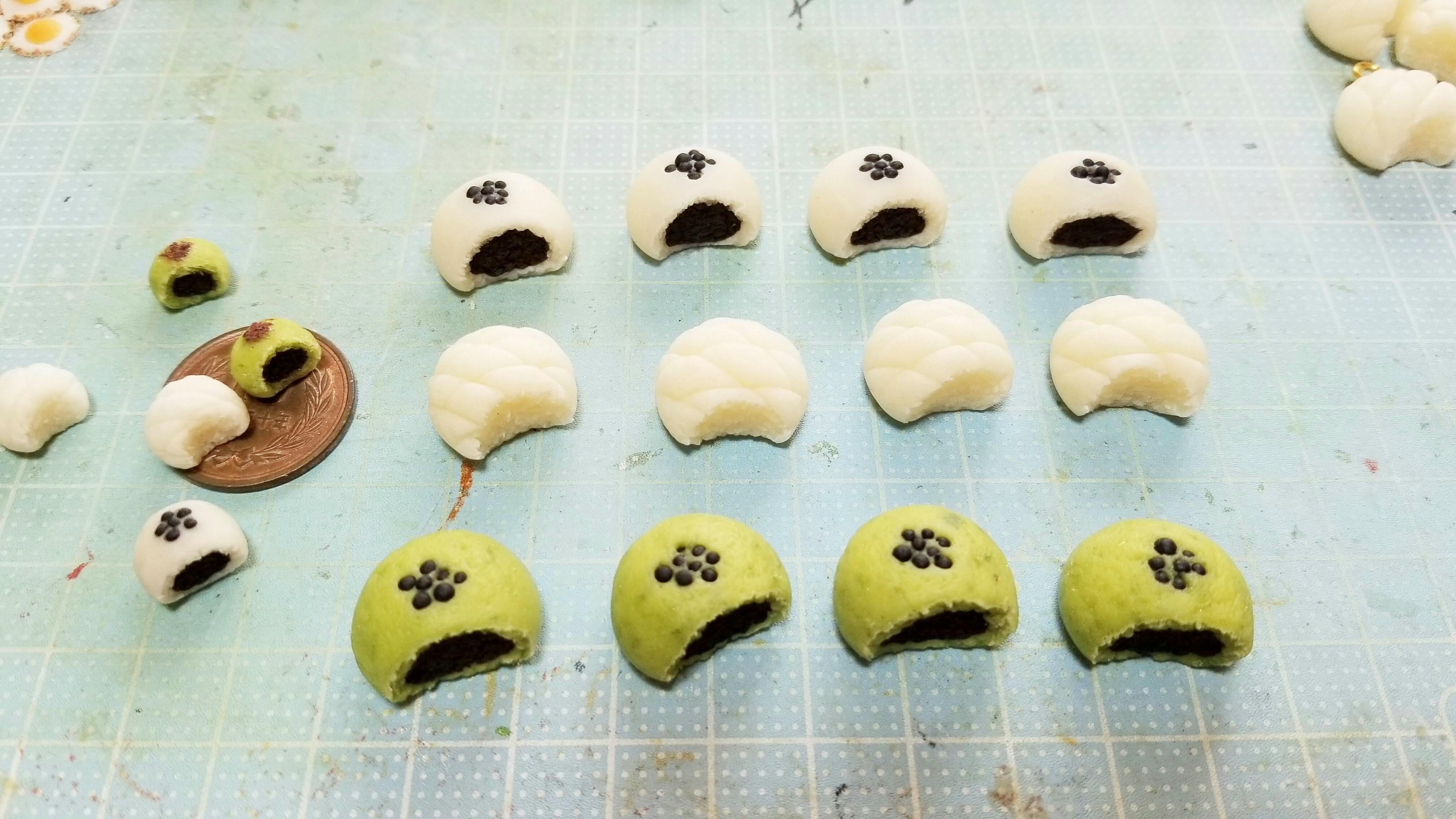ミニチュアフードの作り方ブログかじりかけあんぱんパン樹脂粘土人気