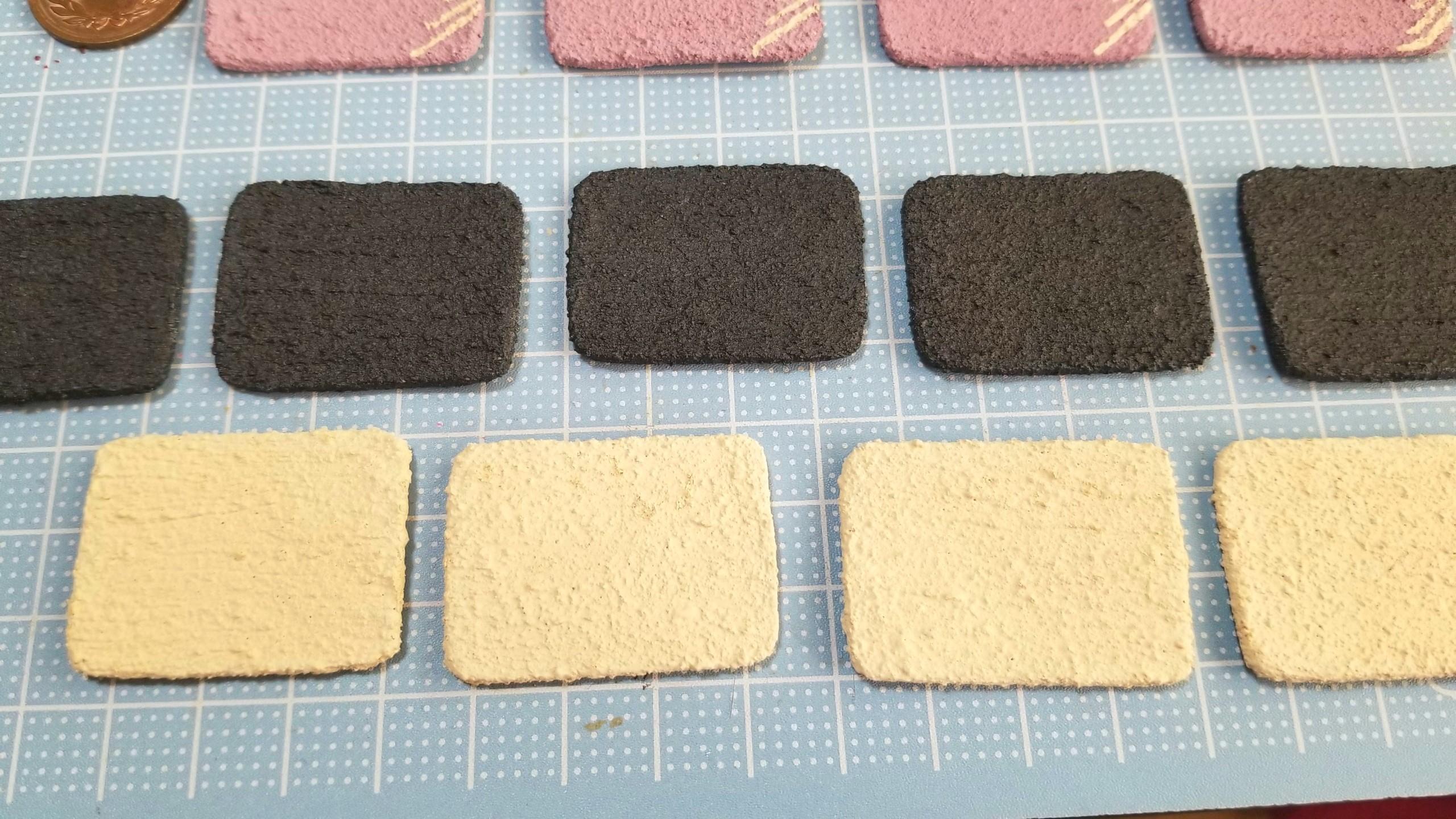 陶器風和食器の作り方,石塑粘土,ミニチュアフード,食玩,着色