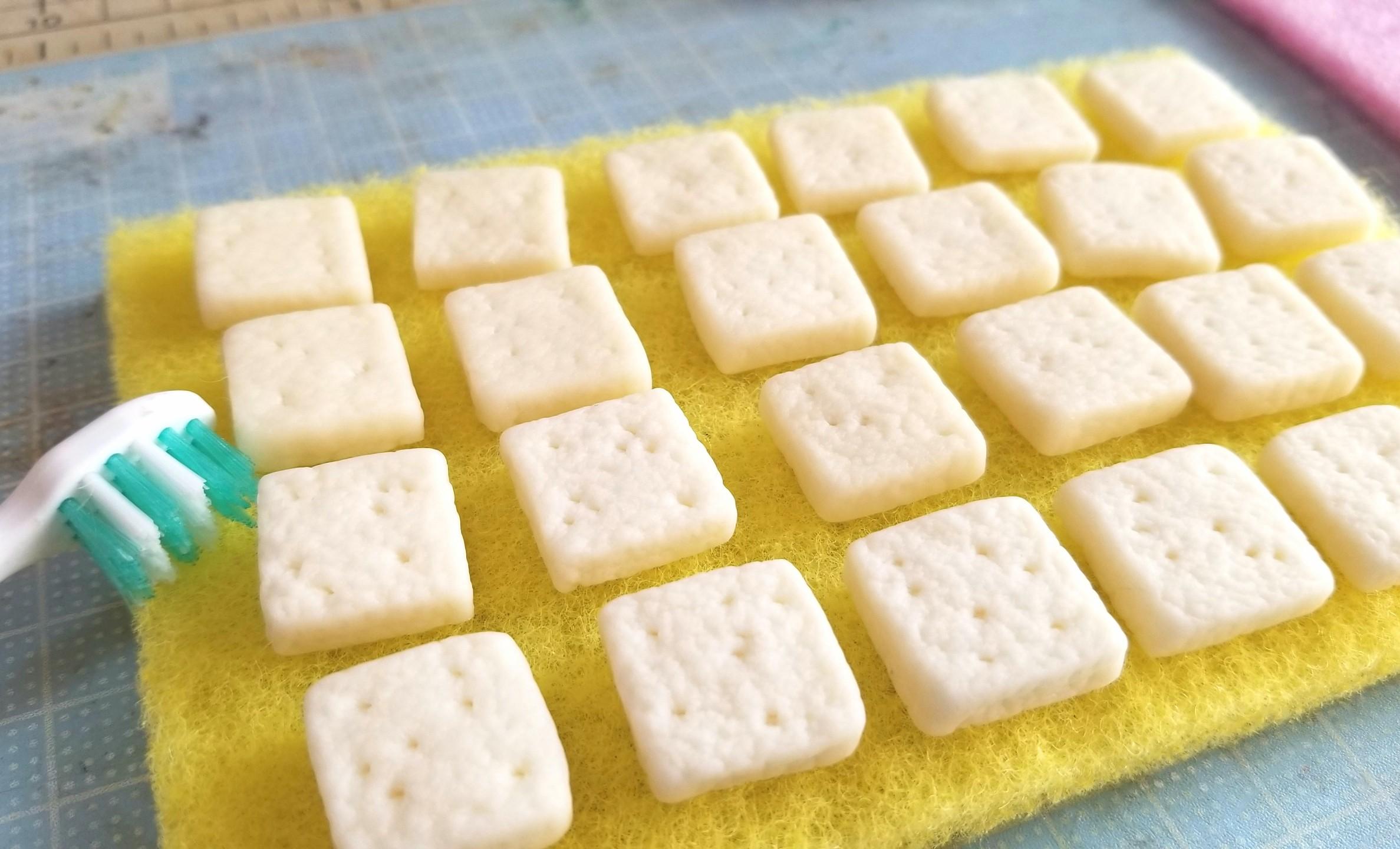 ミニチュアフード,食パン,パン,作り方,仕込み,樹脂粘土,フェイク