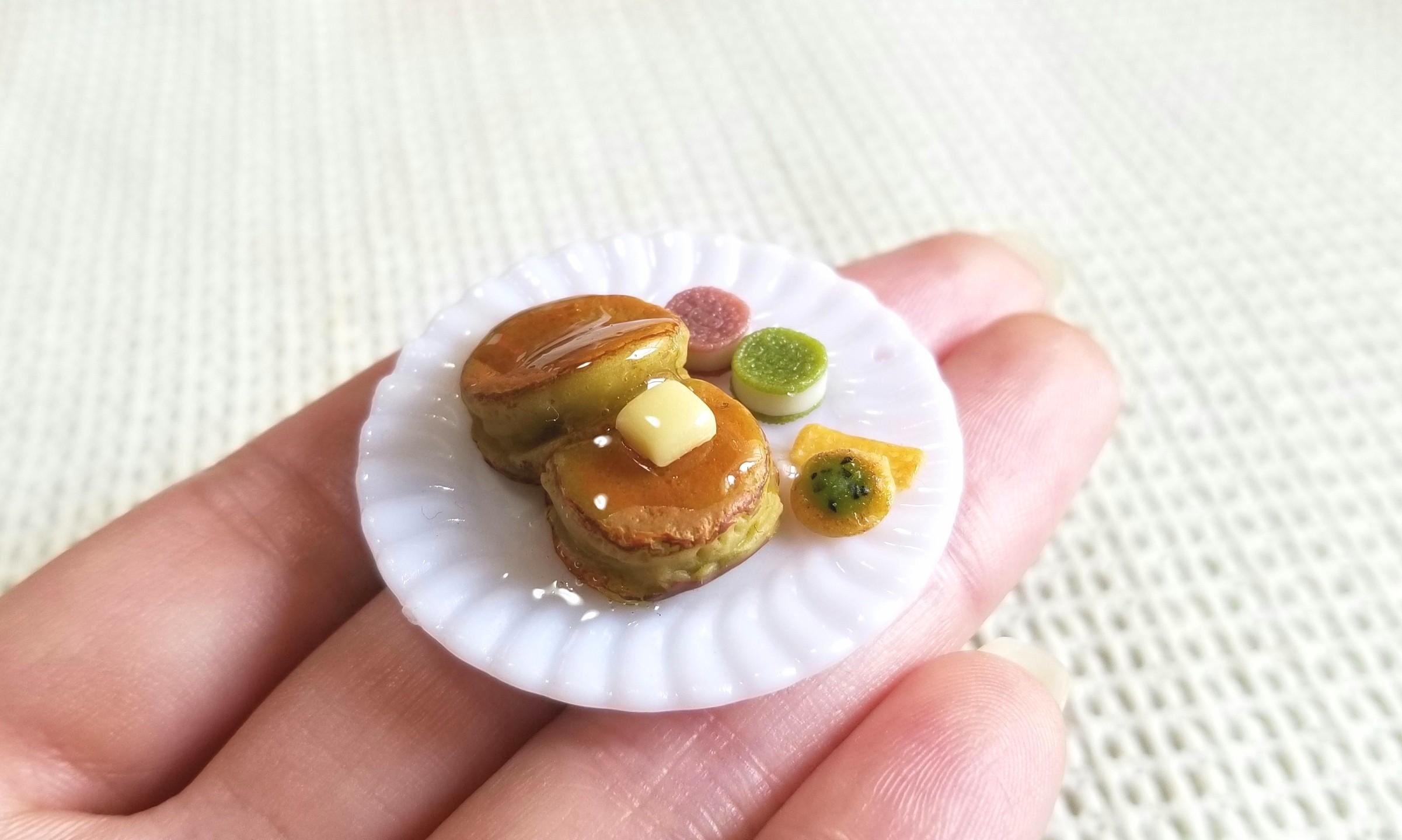 ホットケーキ,ミニチュアフード,パンケーキ,樹脂粘土,フェイクフード