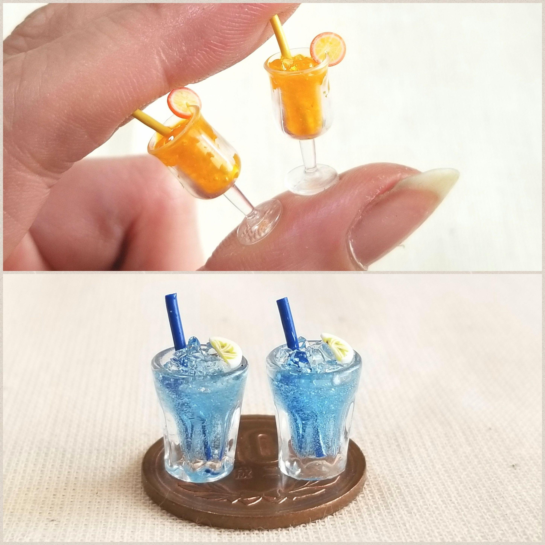 ミニチュアフード飲み物,冷たいオレンジジュース,かわいい小物玩具