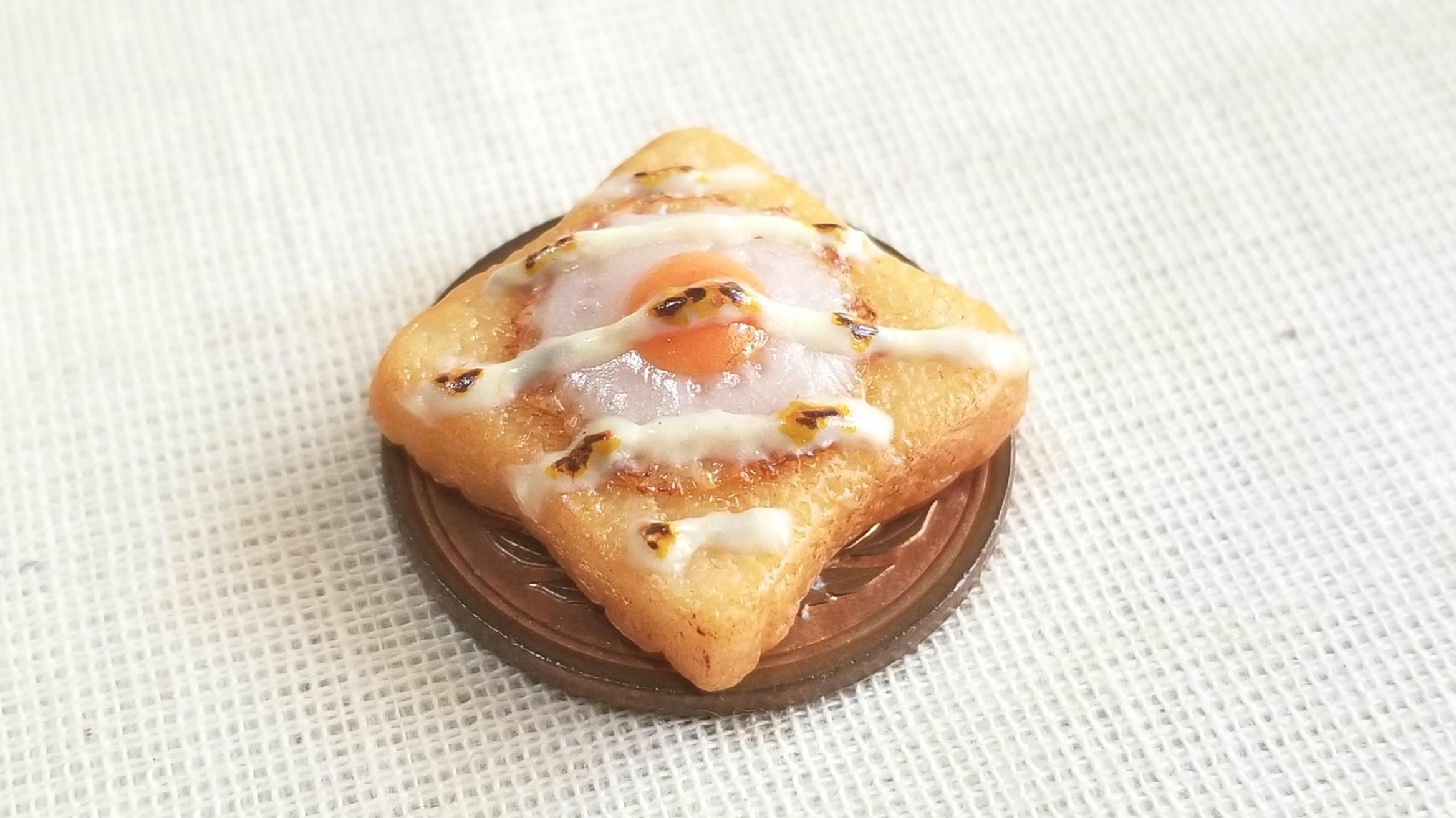 ミニチュアオリジナルトースト,おいしい食パン,樹脂粘土アート,人気