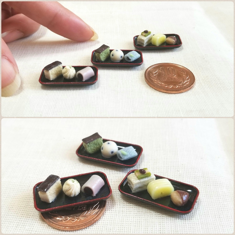 和菓子,ドール用品小物,ミニチュア,ミンネで販売中,ハンドメイド