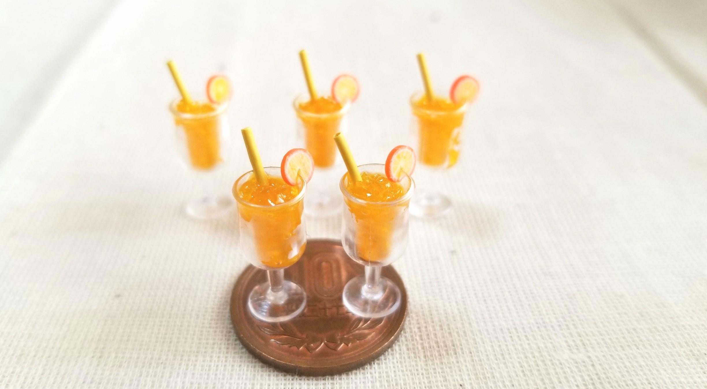 オレンジジュース,ミニチュアフード,レジン,ミンネで販売中,ドール