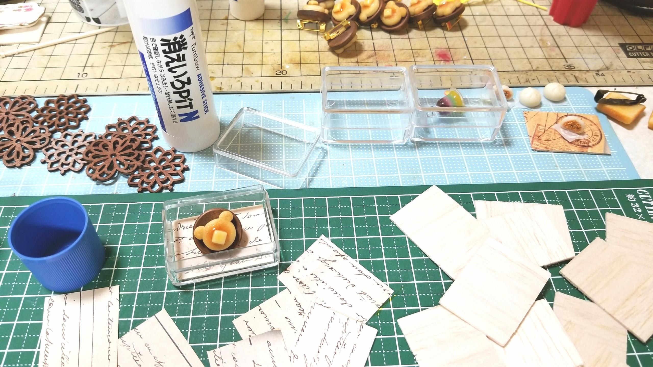 台紙,土台,作り方,ミニチュア,織り紙,バルサ材,可愛,小さい,樹脂粘土