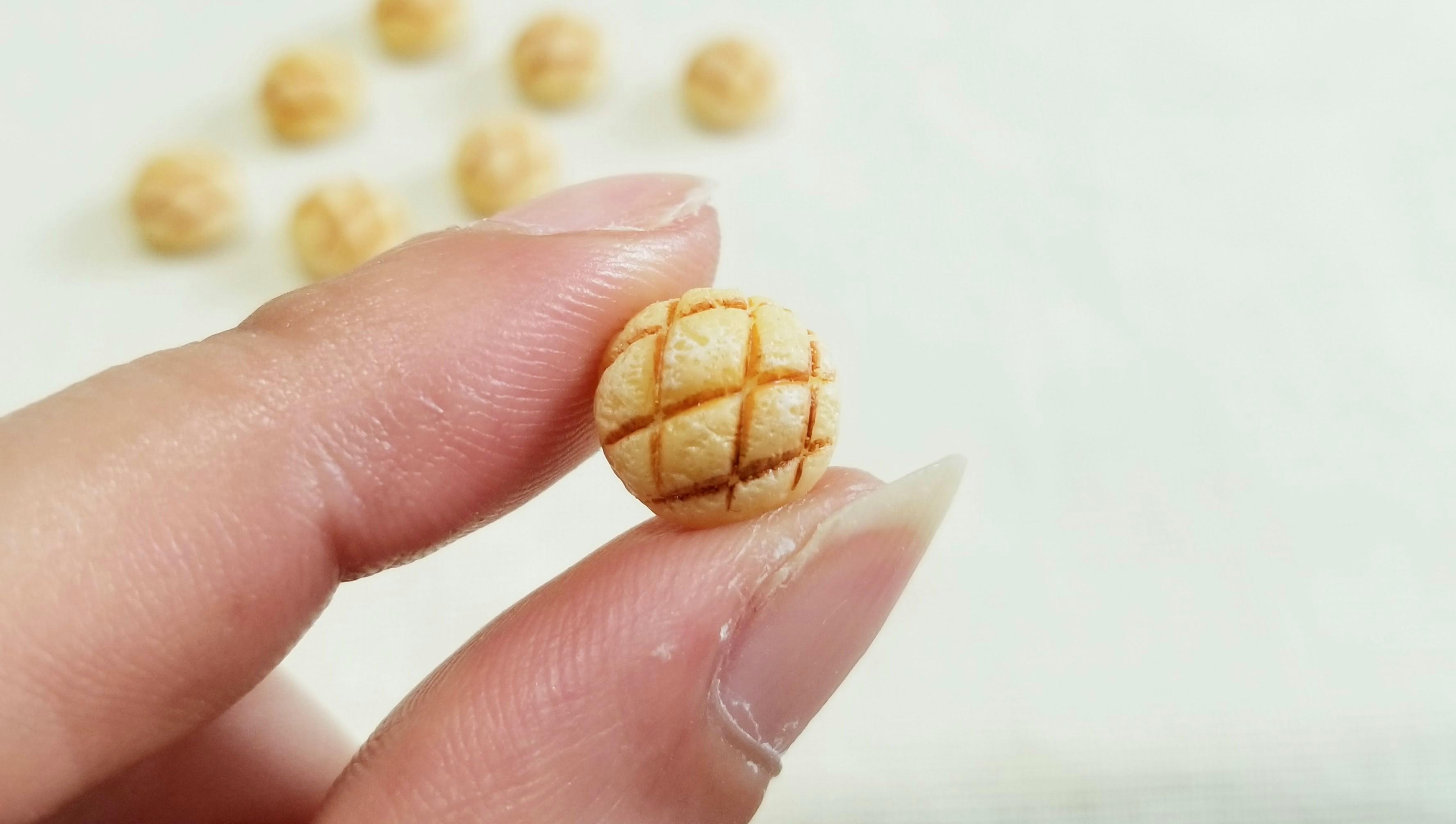 ミニチュアフードメロンパン可愛い小物ミンネで販売中人気商品ドール