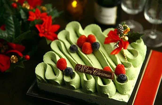 クリスマスケーキ,大好きなお抹茶,豪華おしゃれ,美味しそう,かわいい