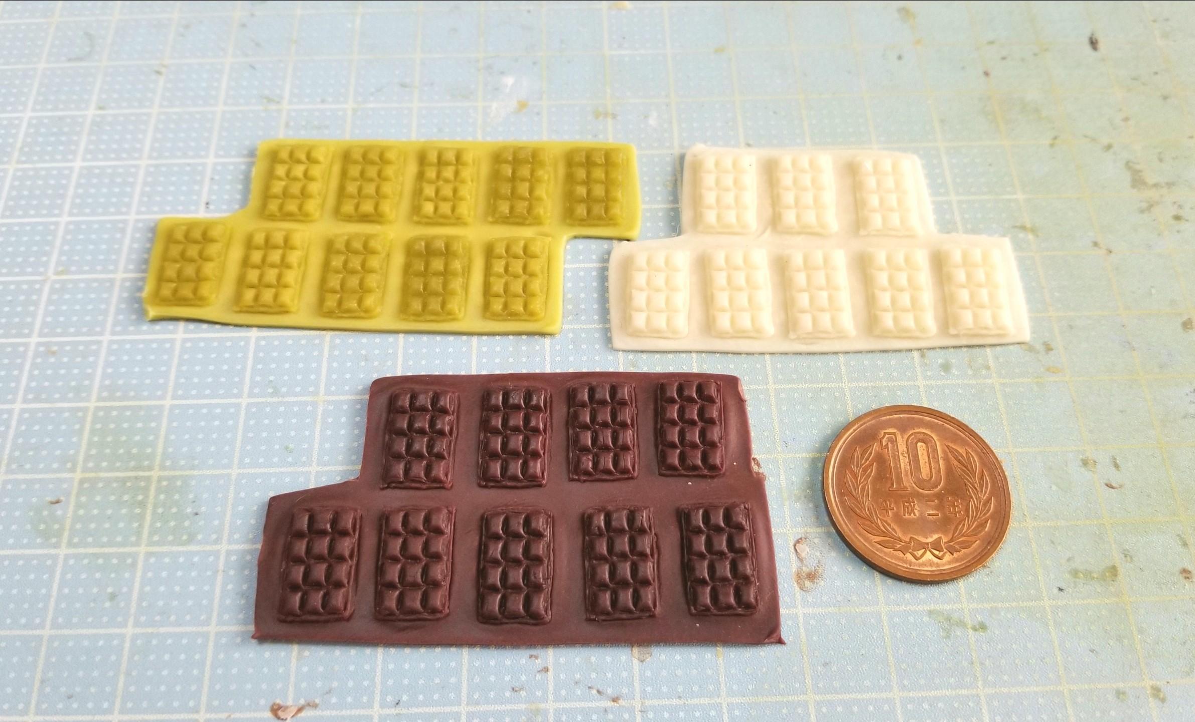 ミニチュアフード,板チョコレート,作り方,バレンタイン,樹脂粘土