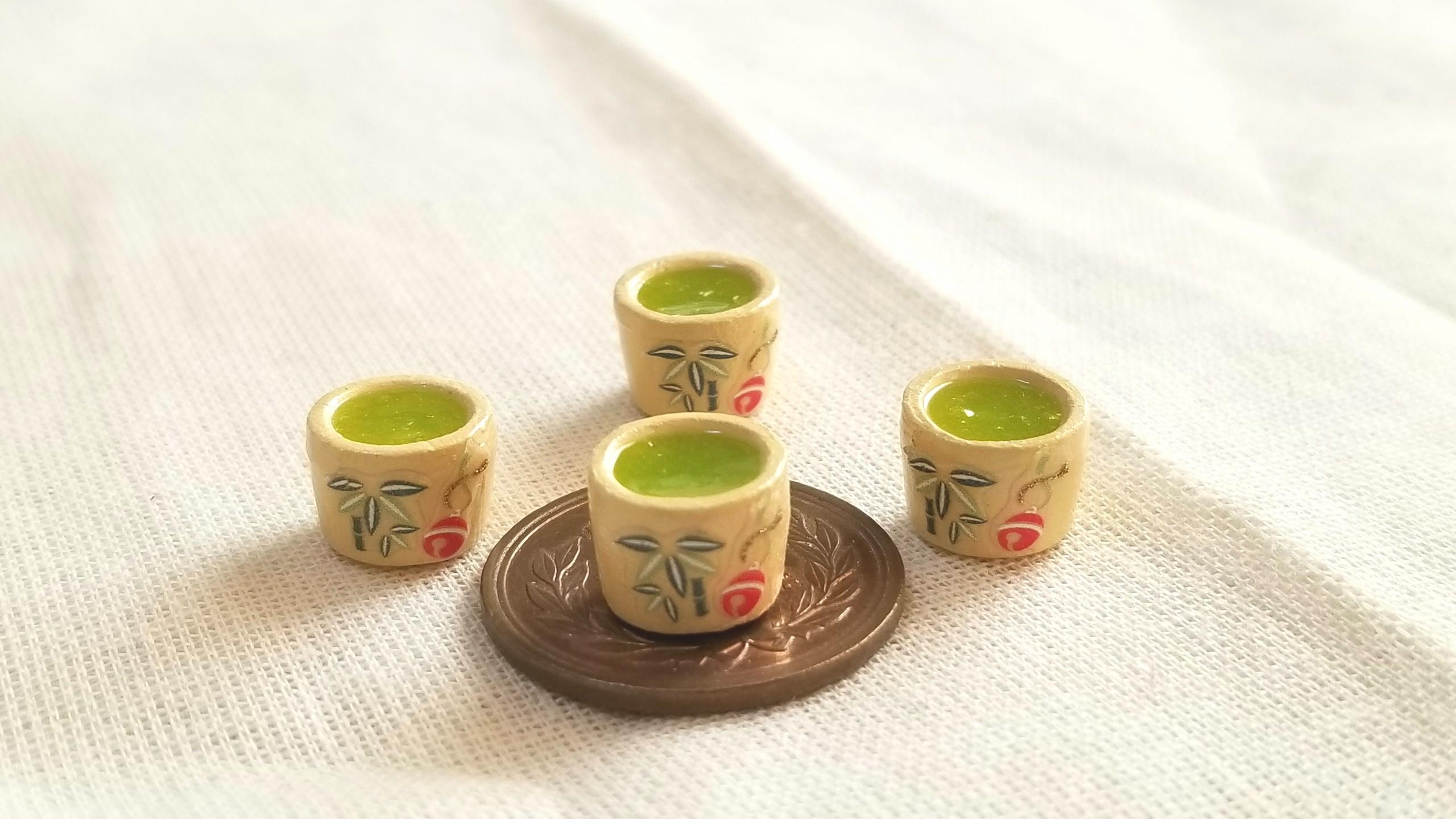 お抹茶,お茶,レジン,ミニチュアフード,フェイク,ねんどろいど,オビツ