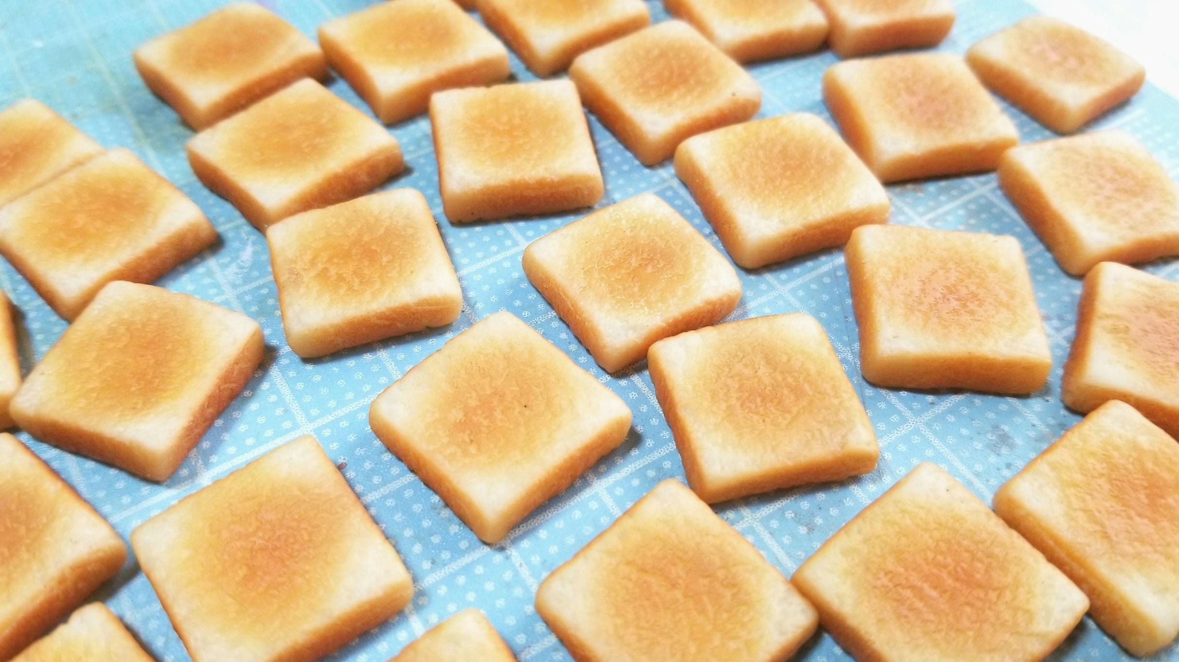 フェイクフードの食パン,トースト,ミニチュア,美味しい手作りパン