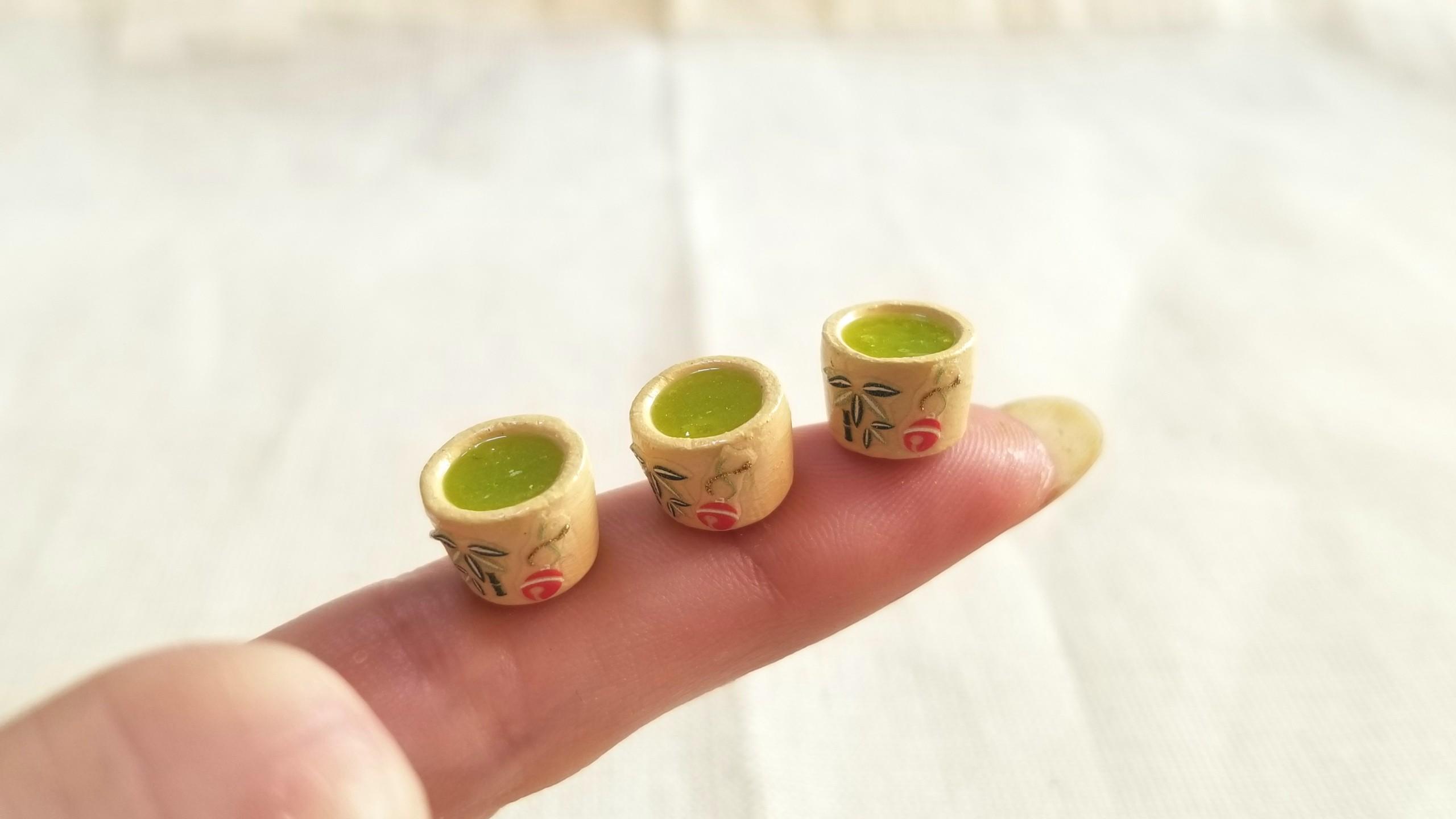 抹茶,レジン,ミニチュアフード,粘土,豆ピカソ,cocoriang,フェイク