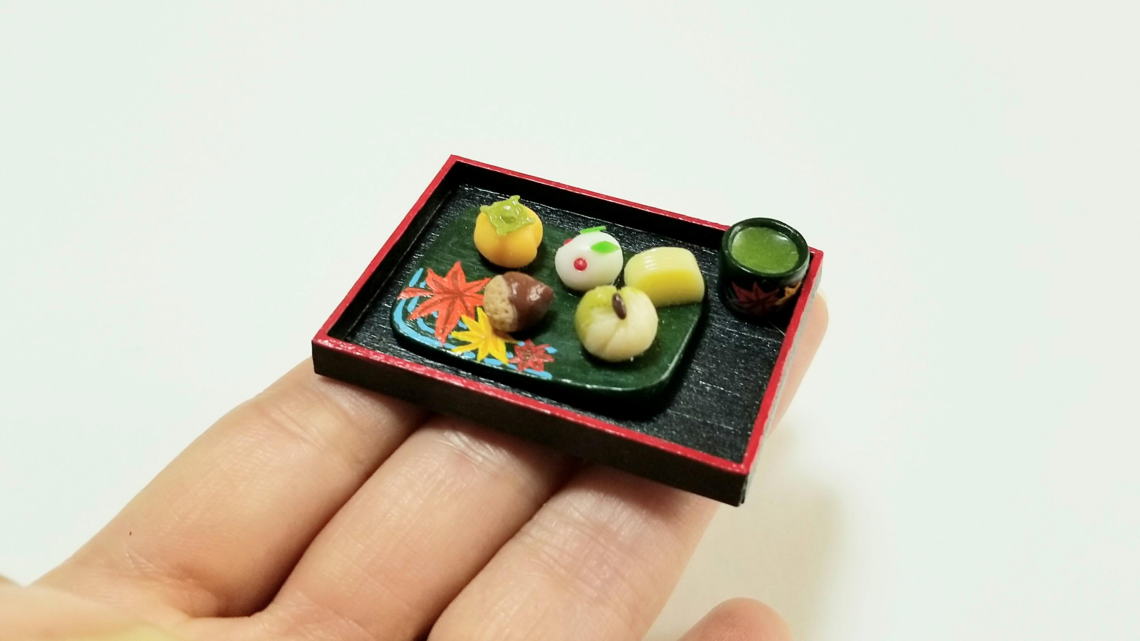 ミニチュアフード樹脂粘土かわいい和菓子季節のミンネで販売おすすめ