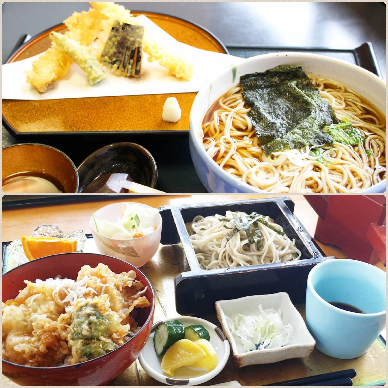 外食,美味しそうな,天丼,お蕎麦,天ぷらセット,豪華で食べたくなる