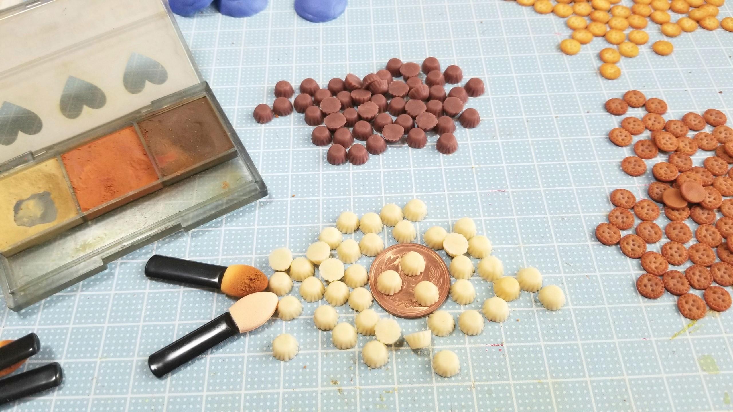 プチカップケーキ,,作り方,ミニチュアフード,樹脂粘土,焼き色の達人
