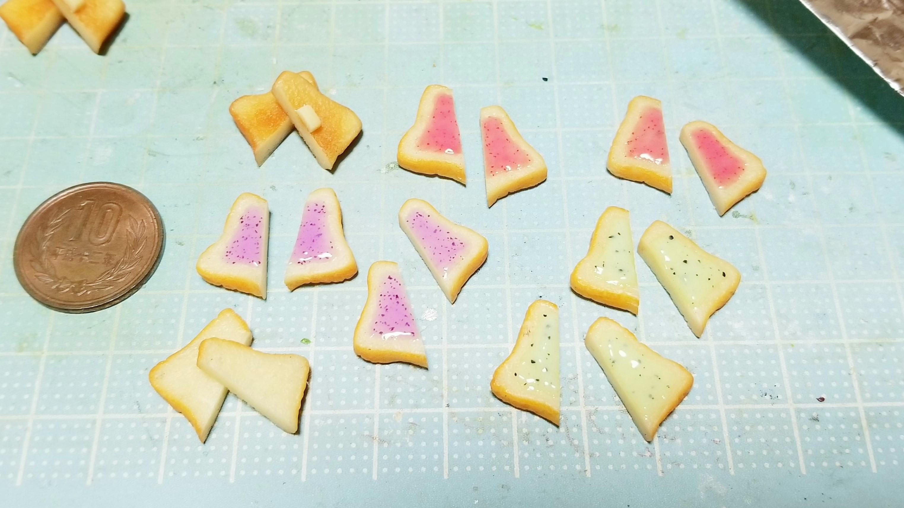ミニチュアフード樹脂粘土食パントースト自作アートおすすめブログ