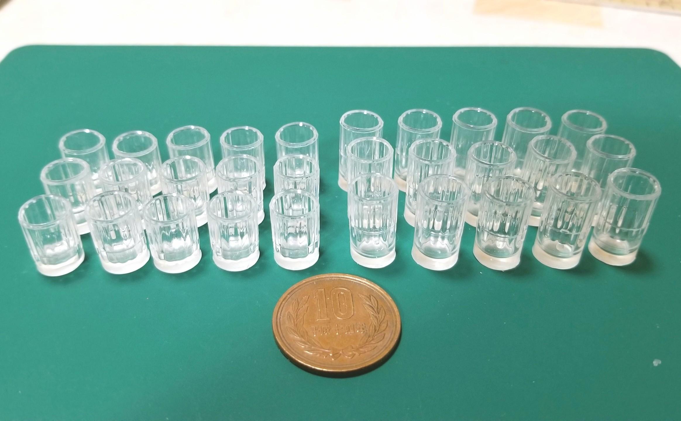 ミニチュア,グラス,コップ,作り方,シガレットフィルターを使って