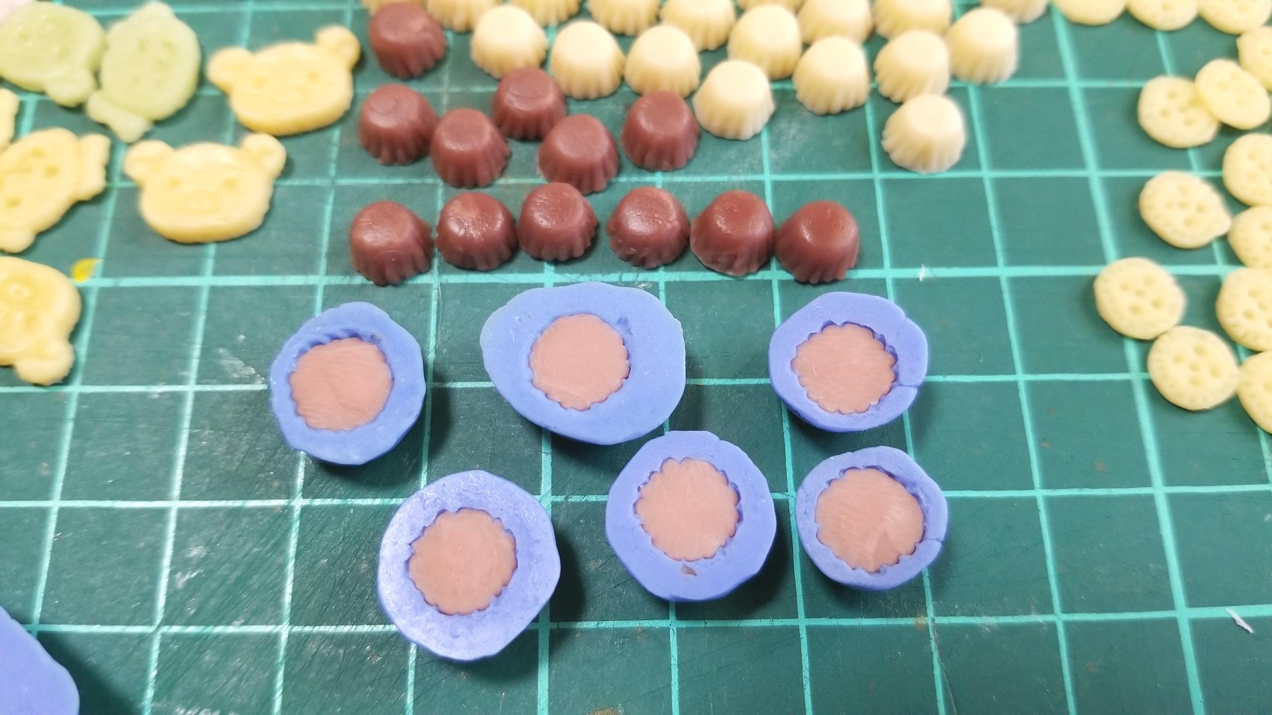 ミニチュアフード,カップケーキ,作り方,樹脂粘土,ドールハウス