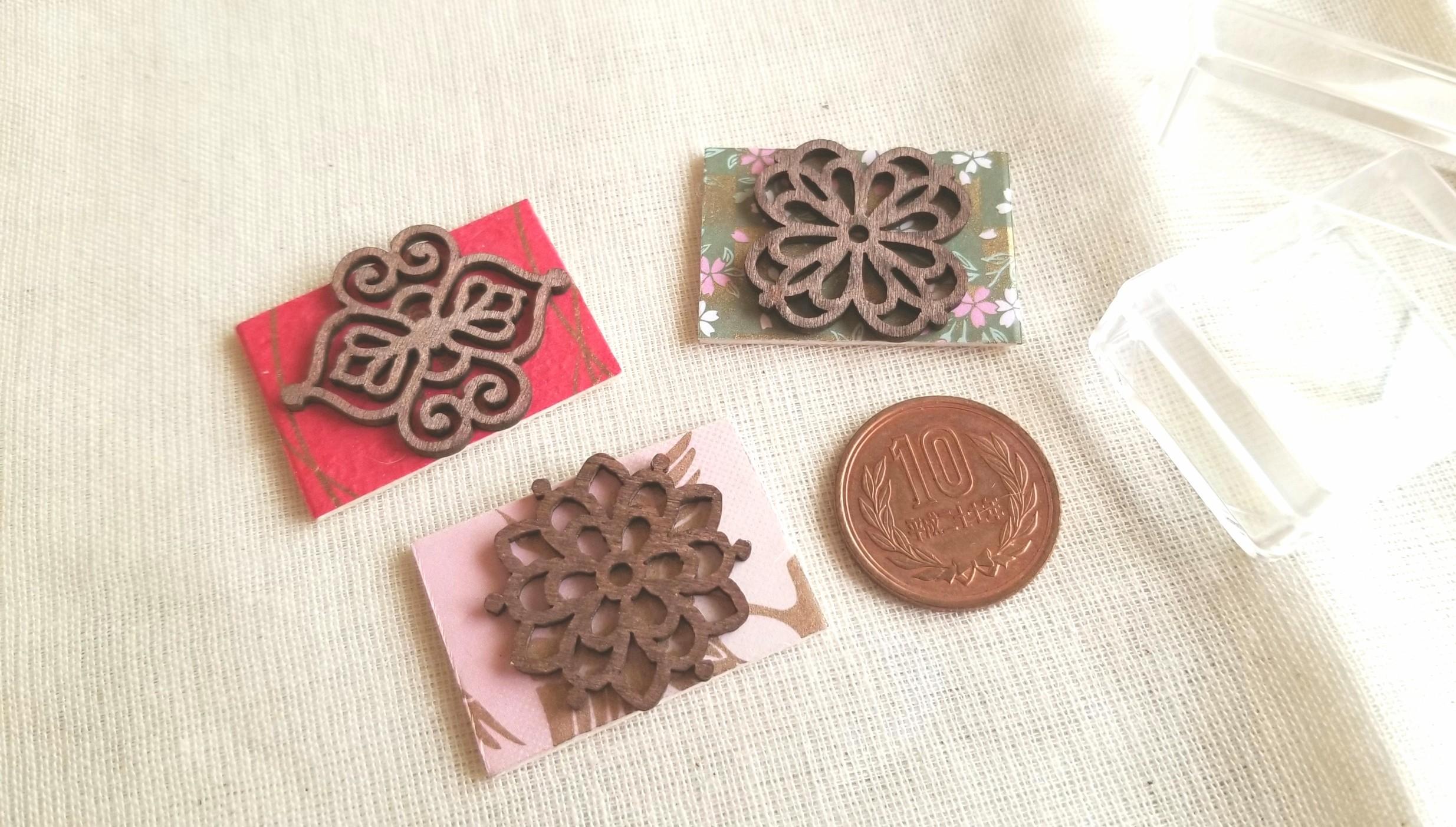 ミニチュアフード,土台,台紙,木製プレート,千代紙,樹脂粘土,肉まん